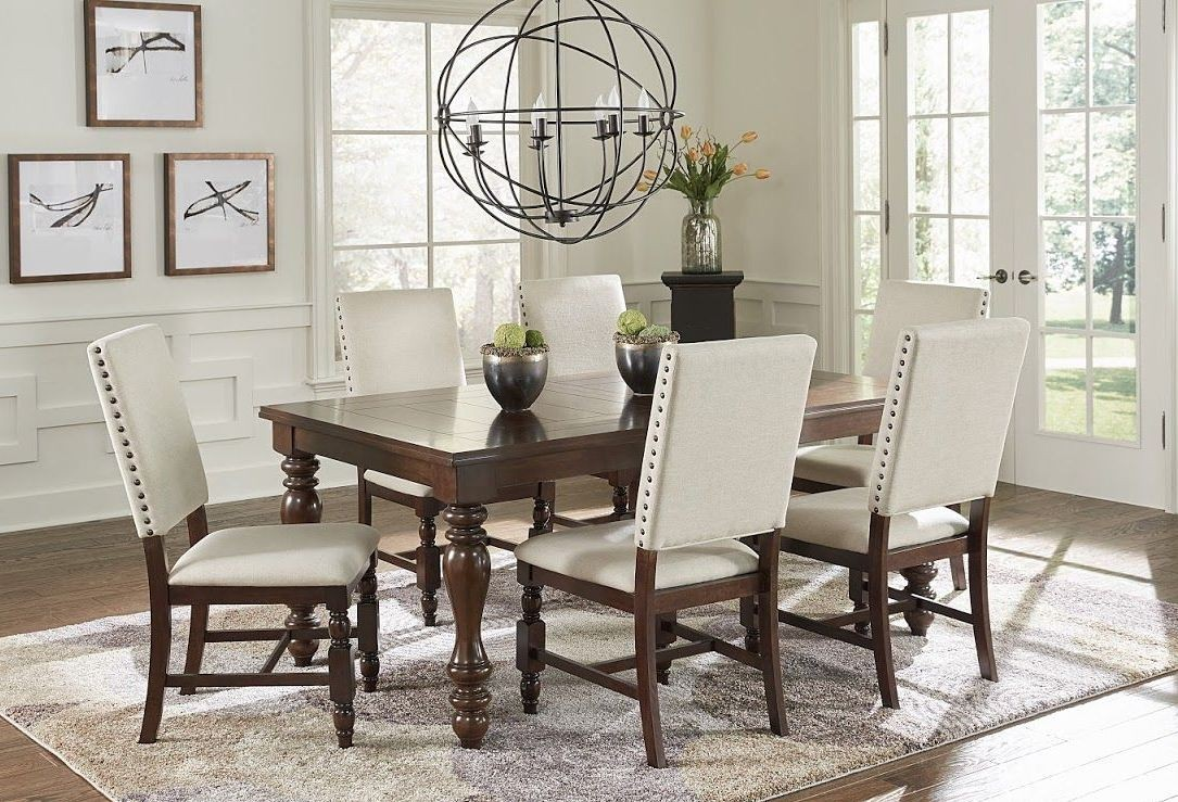 Sanctuary cherry dining room set pro d890 11 progressive for Cherry dining room set