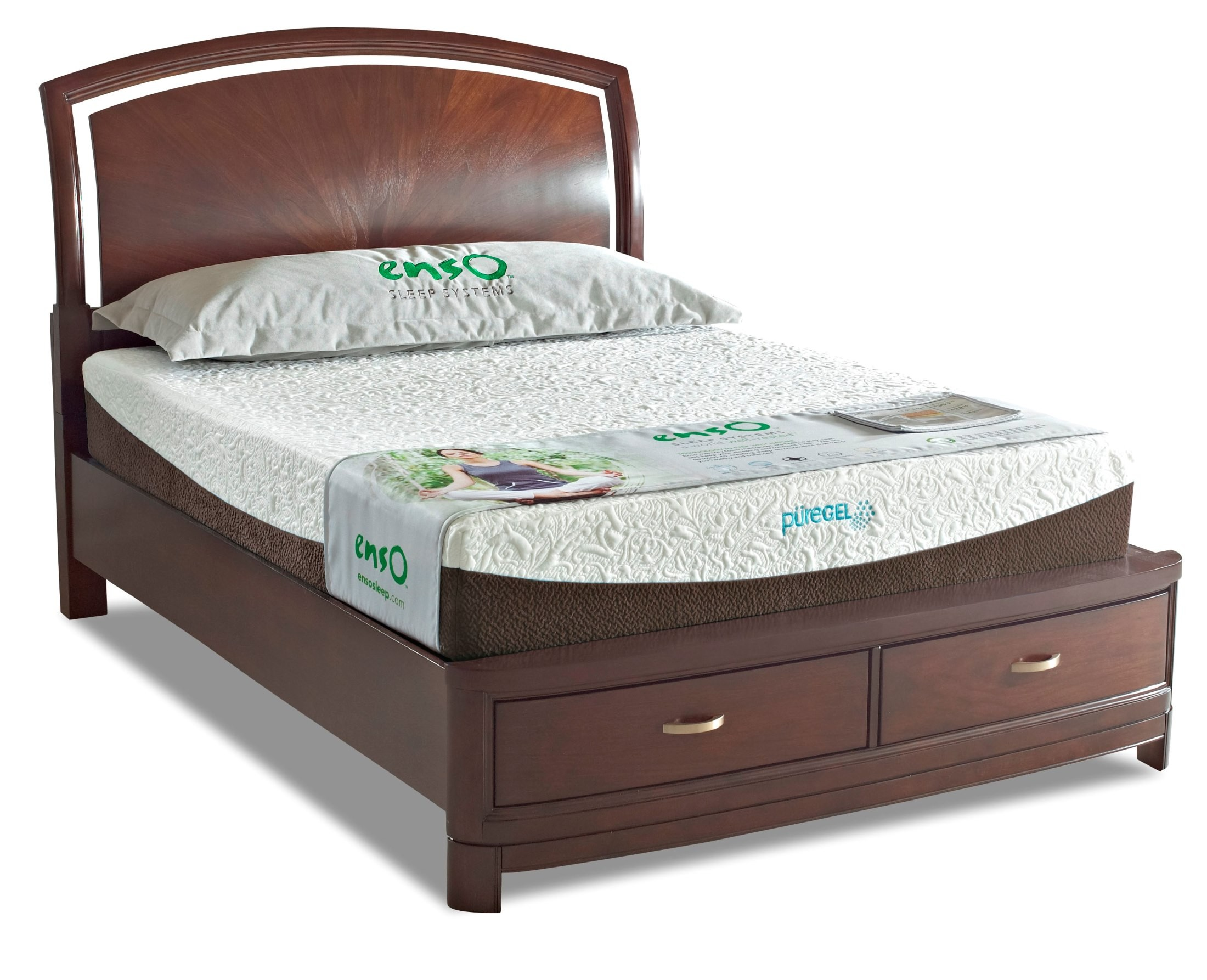 Denali 10 Memory Foam King Size Mattress From Klaussner Denalikkmat Coleman Furniture