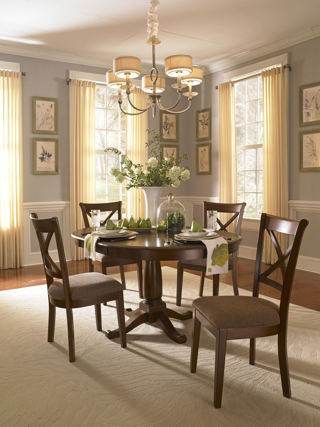 Desoto 60 Burnished Sienna Extendable Oval Dining Room Set DESSI6150