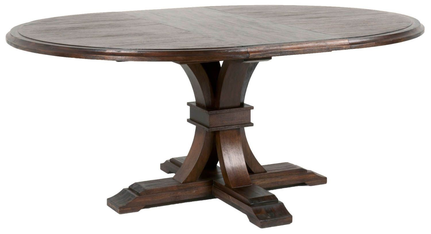 rustic round dining table for 6