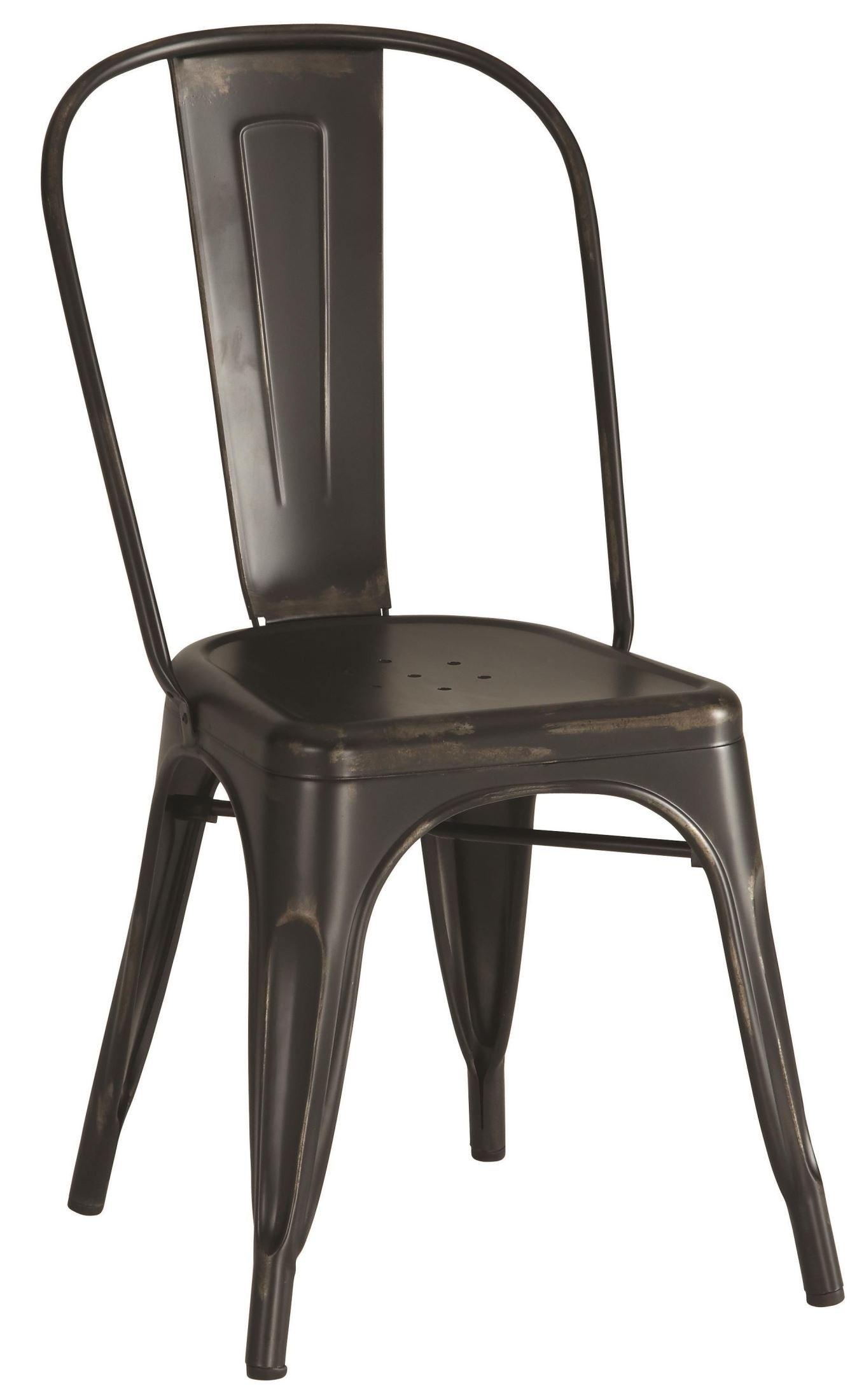 bellevue black metal dining chair set of 4 from coaster 105612 coleman furniture. Black Bedroom Furniture Sets. Home Design Ideas