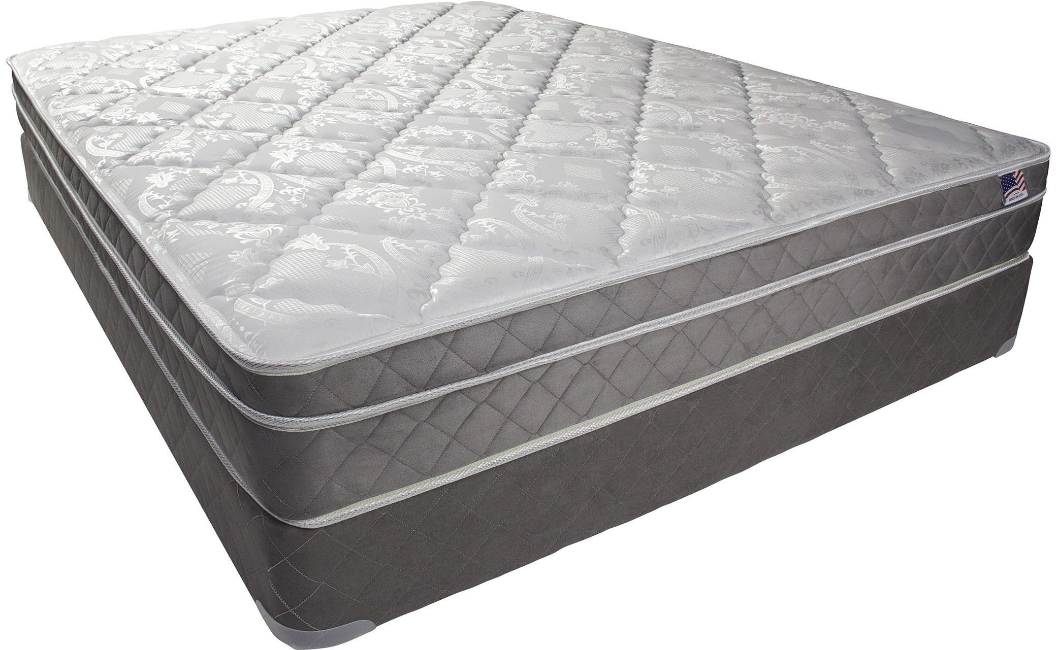 Kalina 9 euro pillow top queen mattress dm121q m for Furniture of america mattress