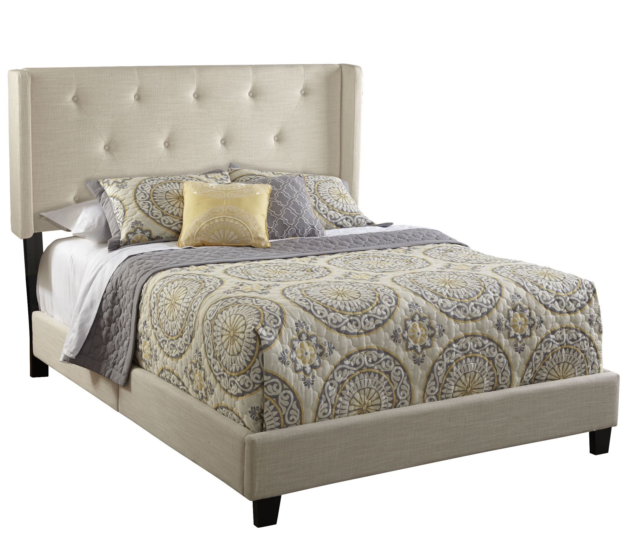 Image Result For Pulaski Contemporary Shelter Upholstered Queen Bed
