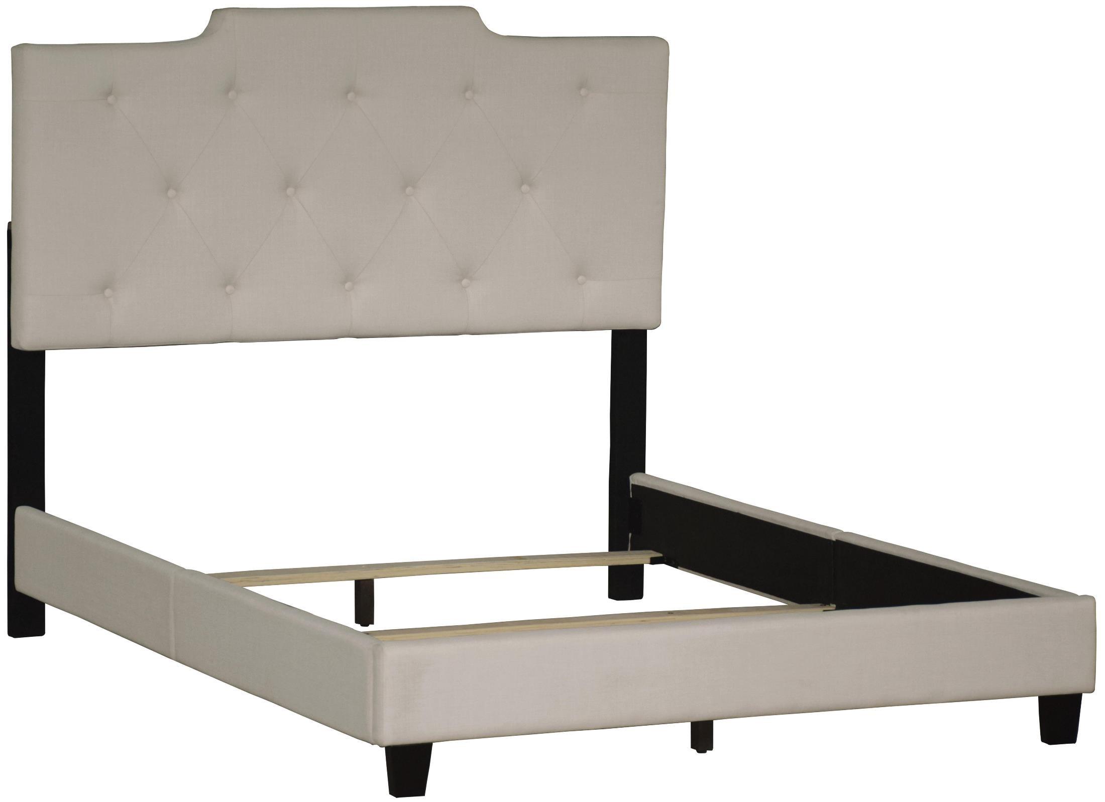Upholstered queen platform bed from pulaski ds 1931 290 for Affordable furniture 290