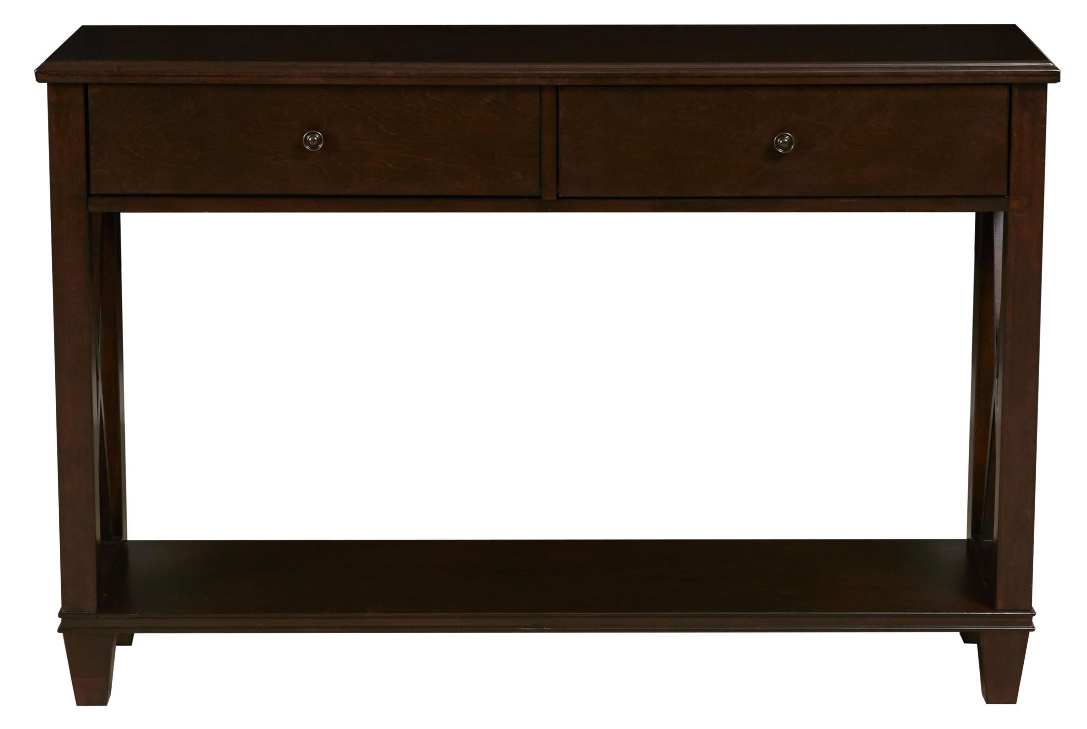 ds 2201 700 dark wood console table from pulaski ds 2201