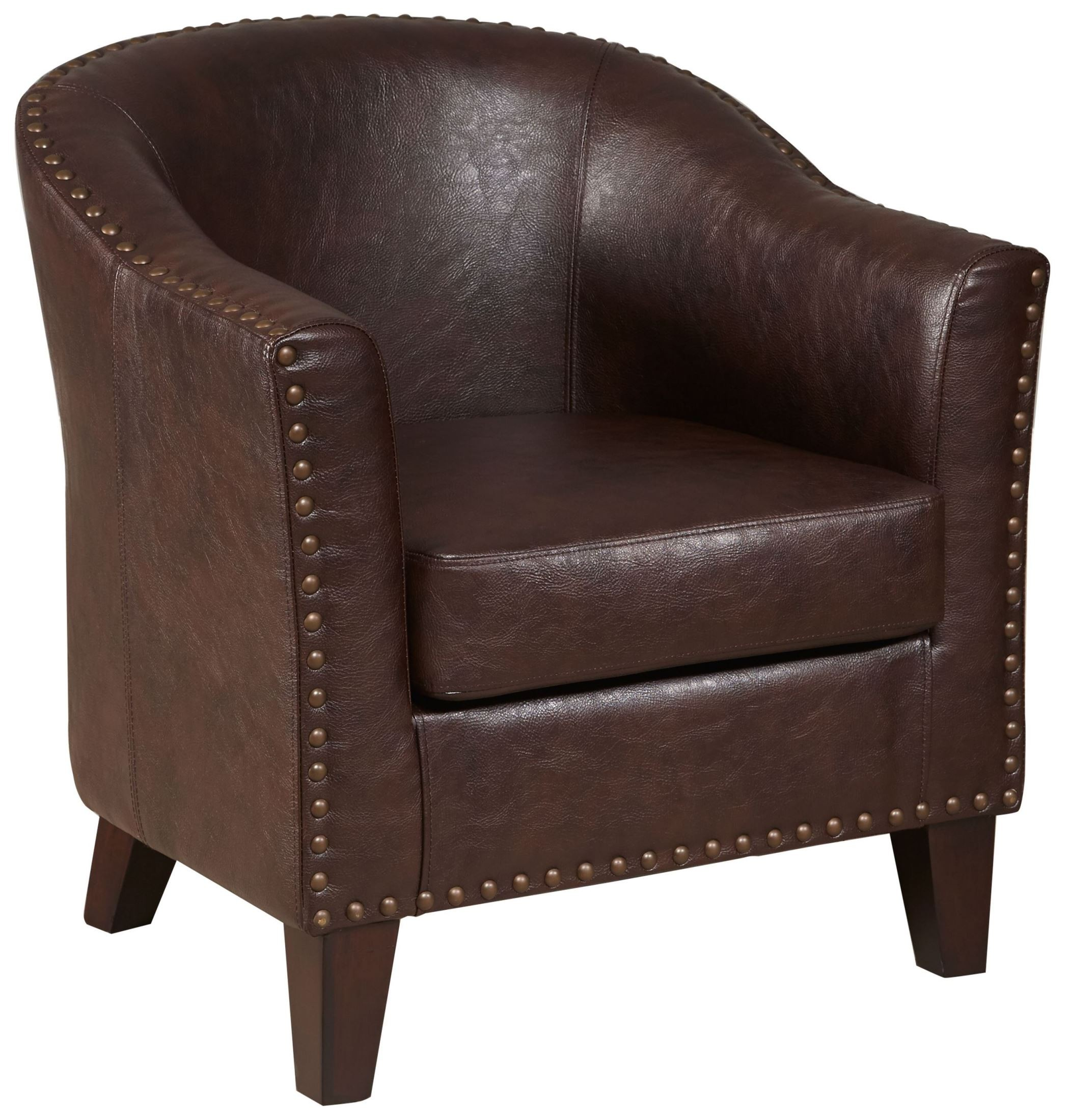 Traditional Warm Brown Upholstered Accent Chair from ...