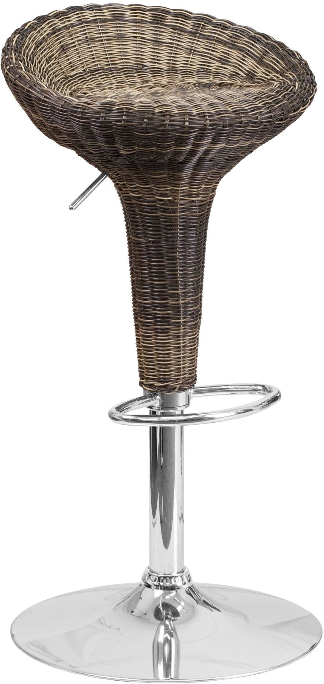 Low Back Wicker Adjustable Height Barstool Ds 711 Gg