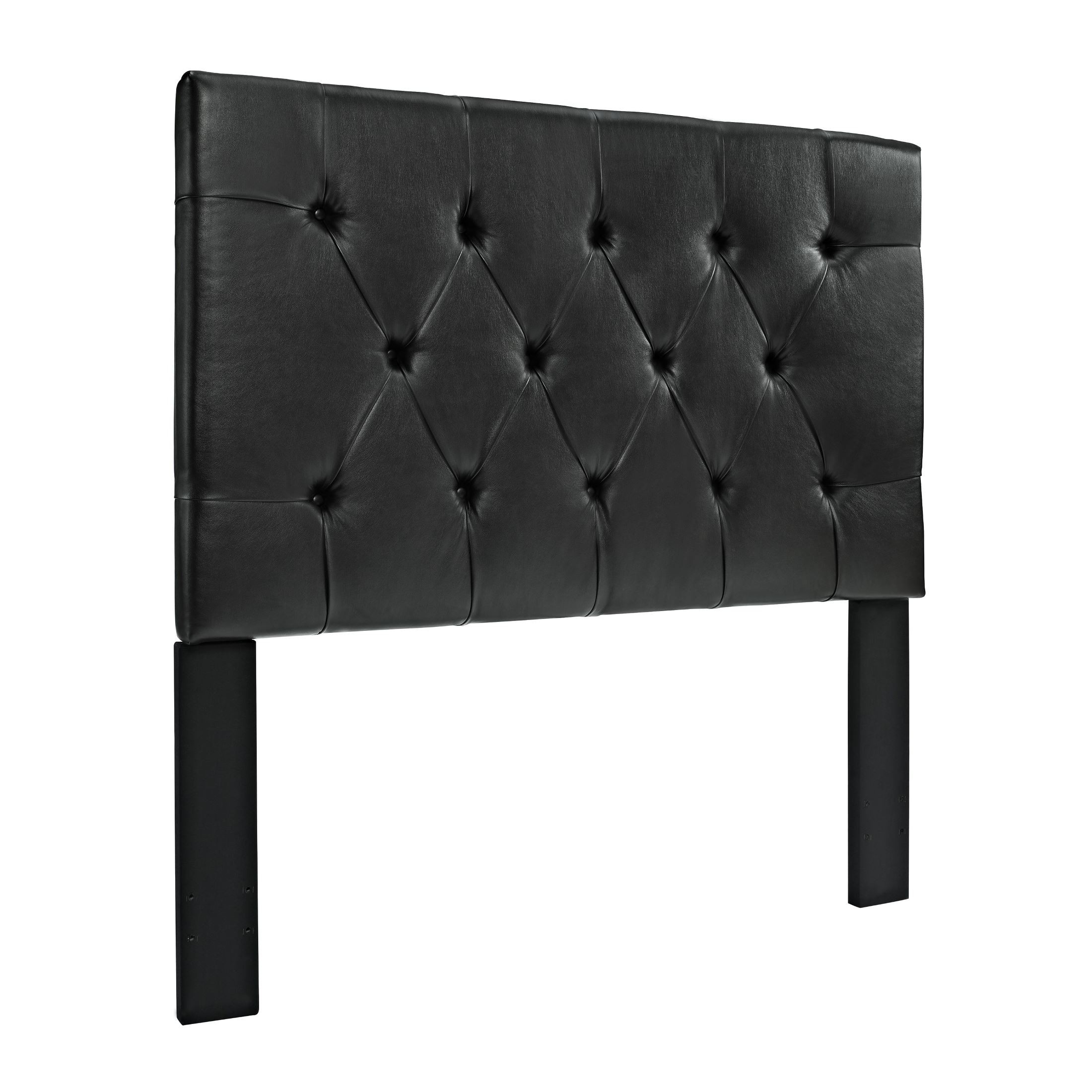 Full/Queen Dark Brown Faux Leather Tufted Headboard from Pulaski (DS ...