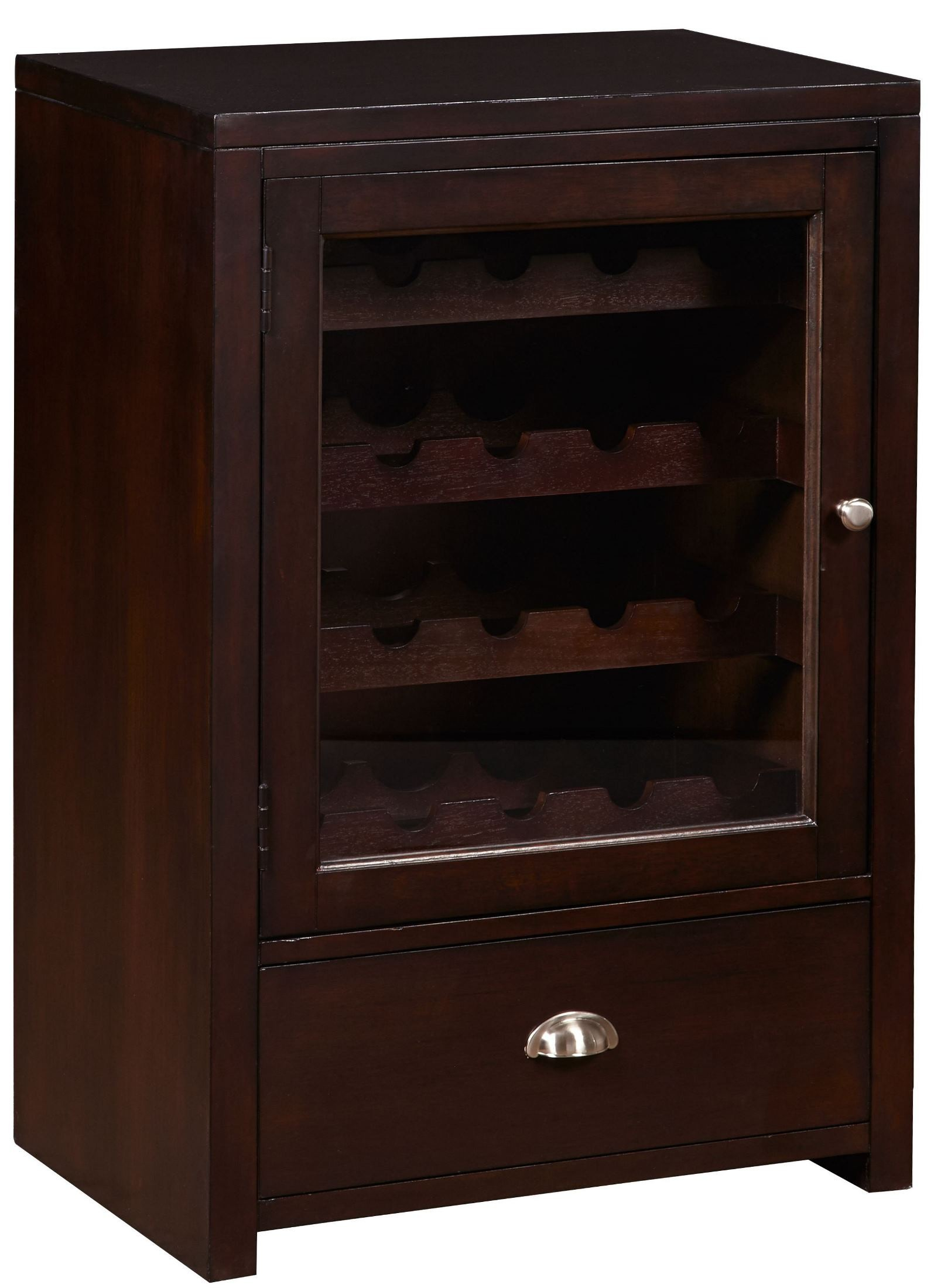 Chocolate drawer wine cabinet ds a086 304 pulaski for Cocoa cabinets