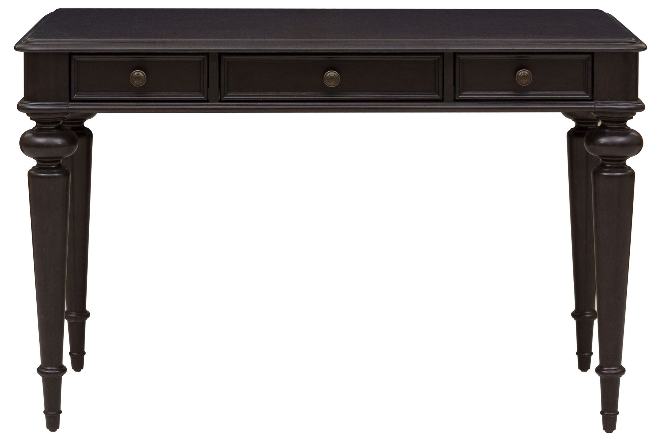 Rubbed Black 3 Drawer Writing Desk Ds A133 550 Pulaski