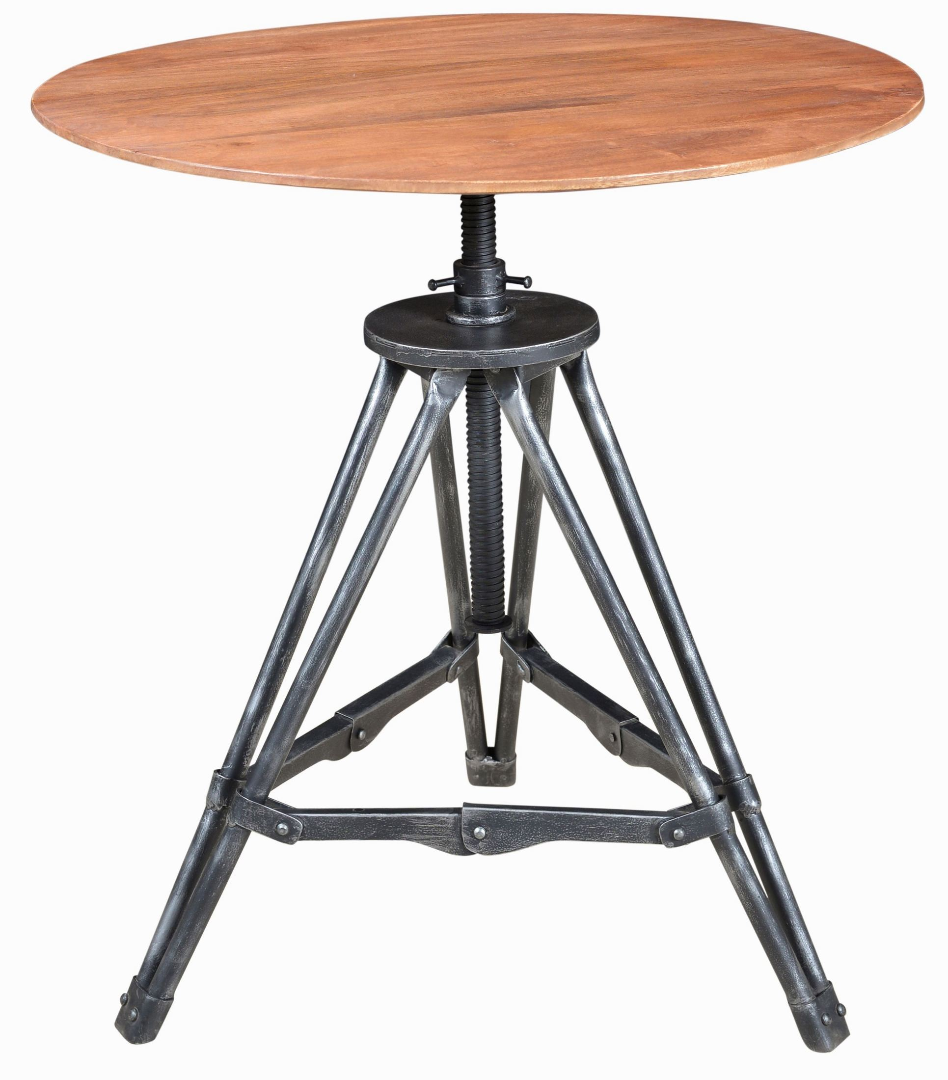 Cherry Metal Wood Accent Table Ds A176 852 Pulaski