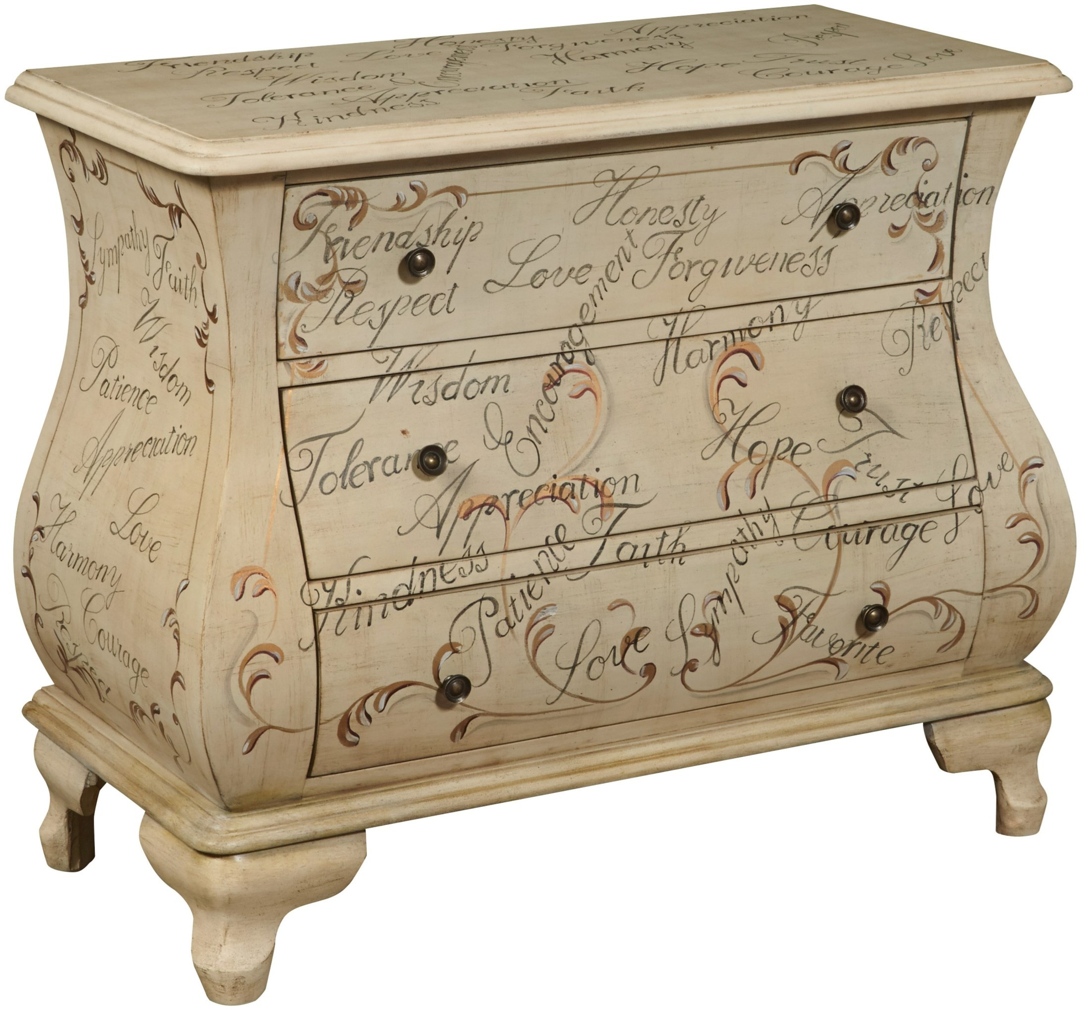 Hand painted bombe accent chest from pulaski ds p017037 for Hand painted chests