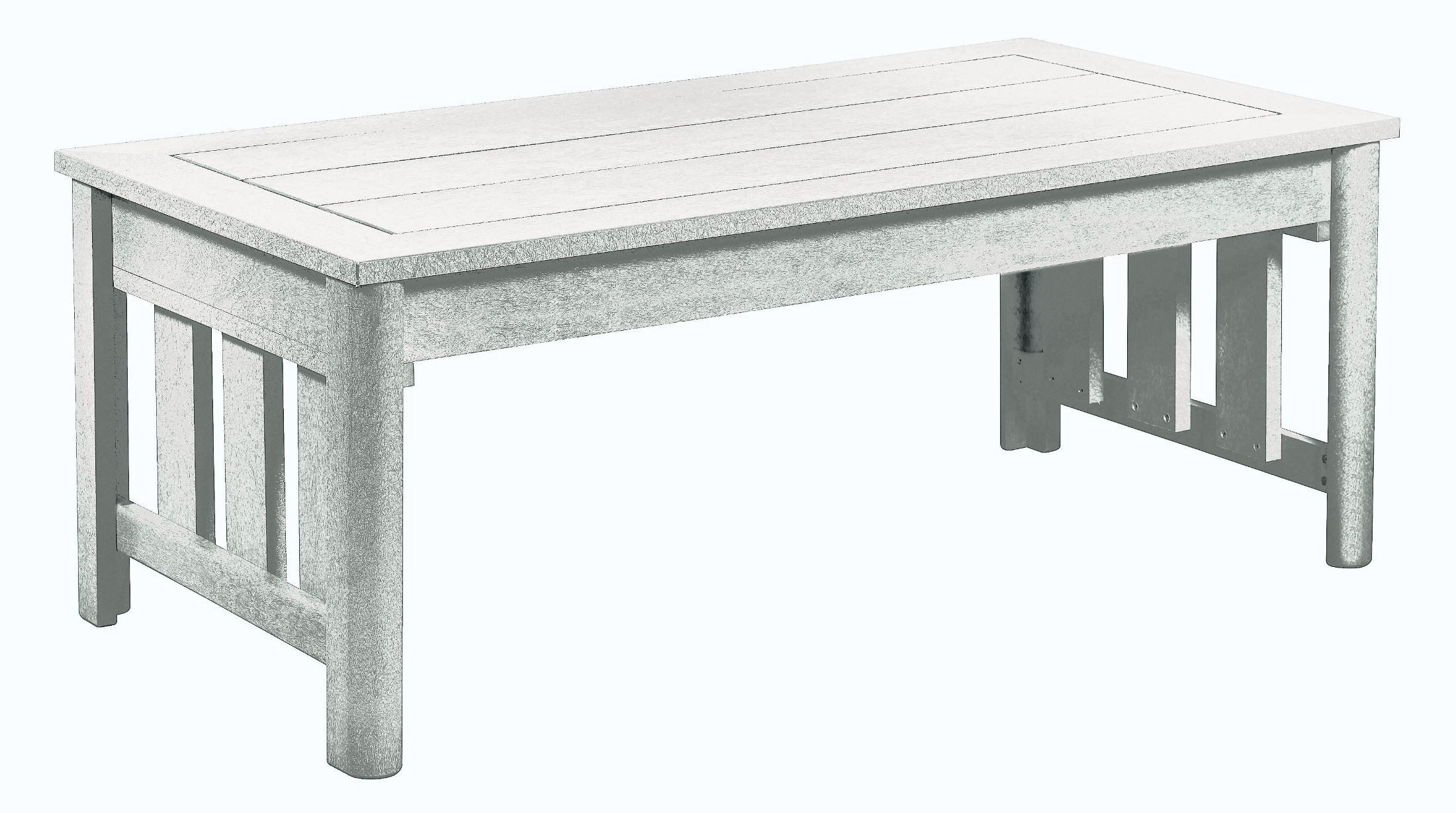 Stratford White Coffee Table From Cr Plastic Dst147 02 Coleman Furniture