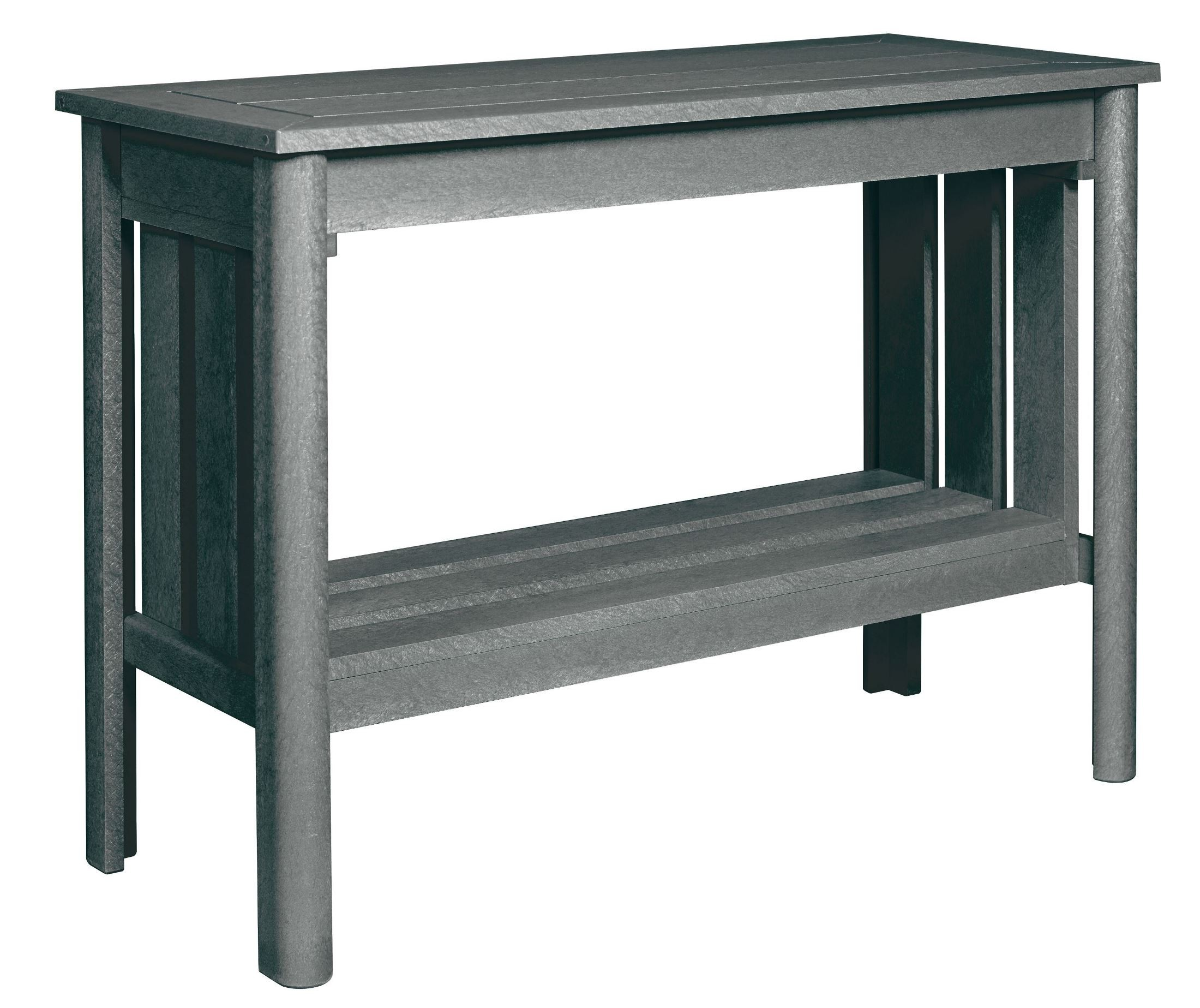 Stratford slate gray sofa table from cr plastic dst149 18 for Sofa table grey