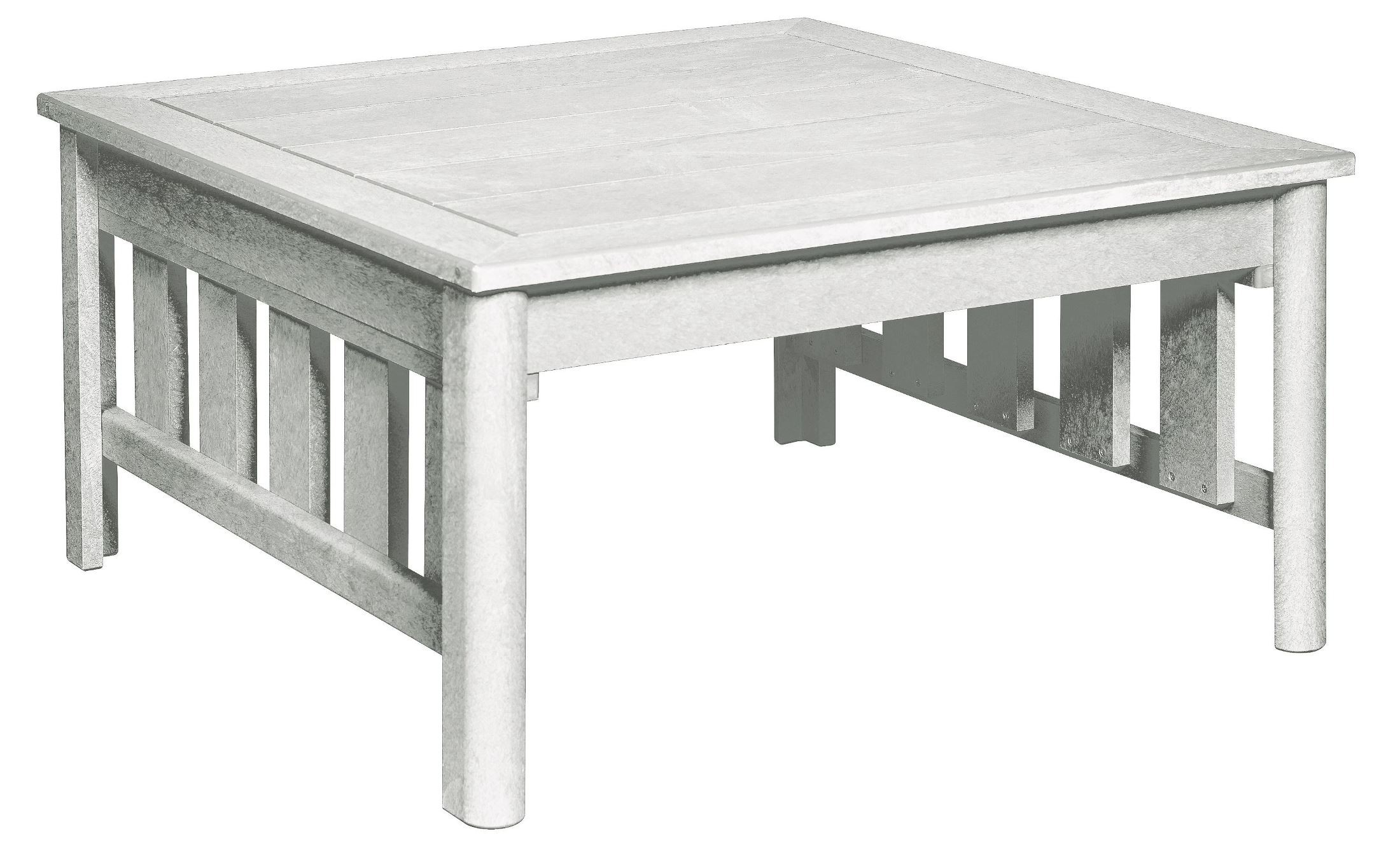 Stratford White Square Cocktail Table From Cr Plastic Dst150 02 Coleman Furniture