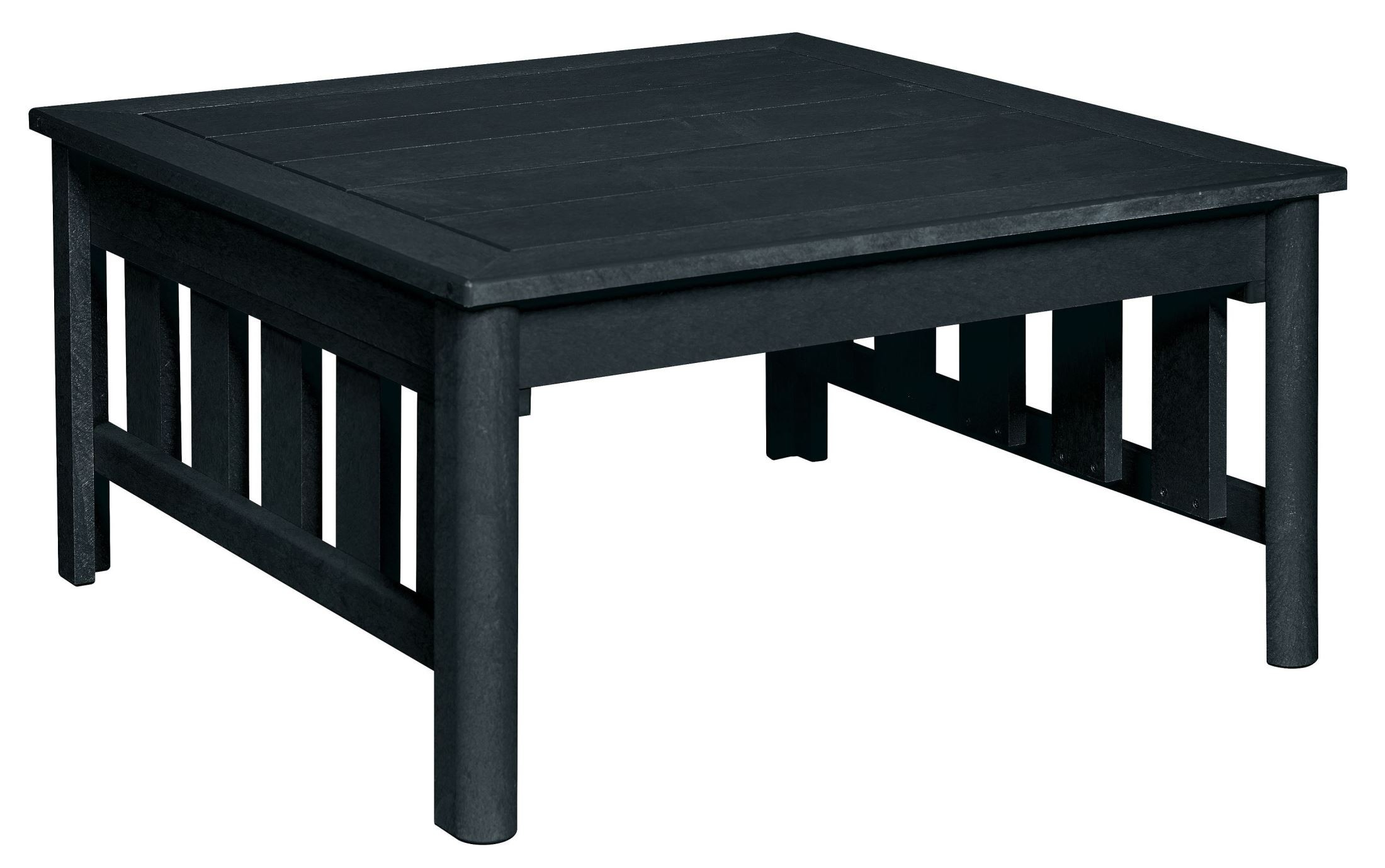 Stratford black square cocktail table from cr plastic for Square cocktail table
