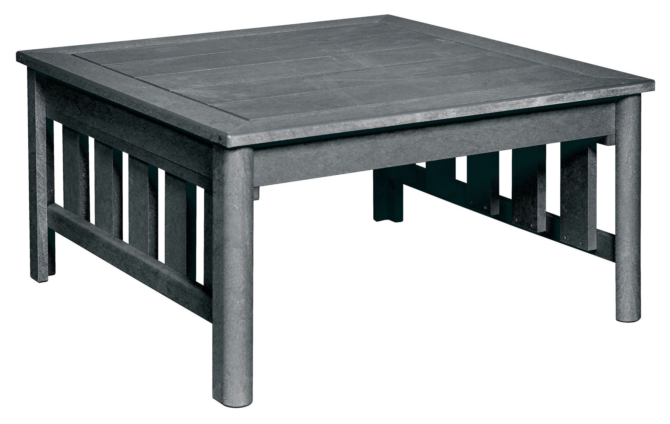 Stratford Slate Gray Square Cocktail Table From Cr Plastic Dst150 18 Coleman Furniture