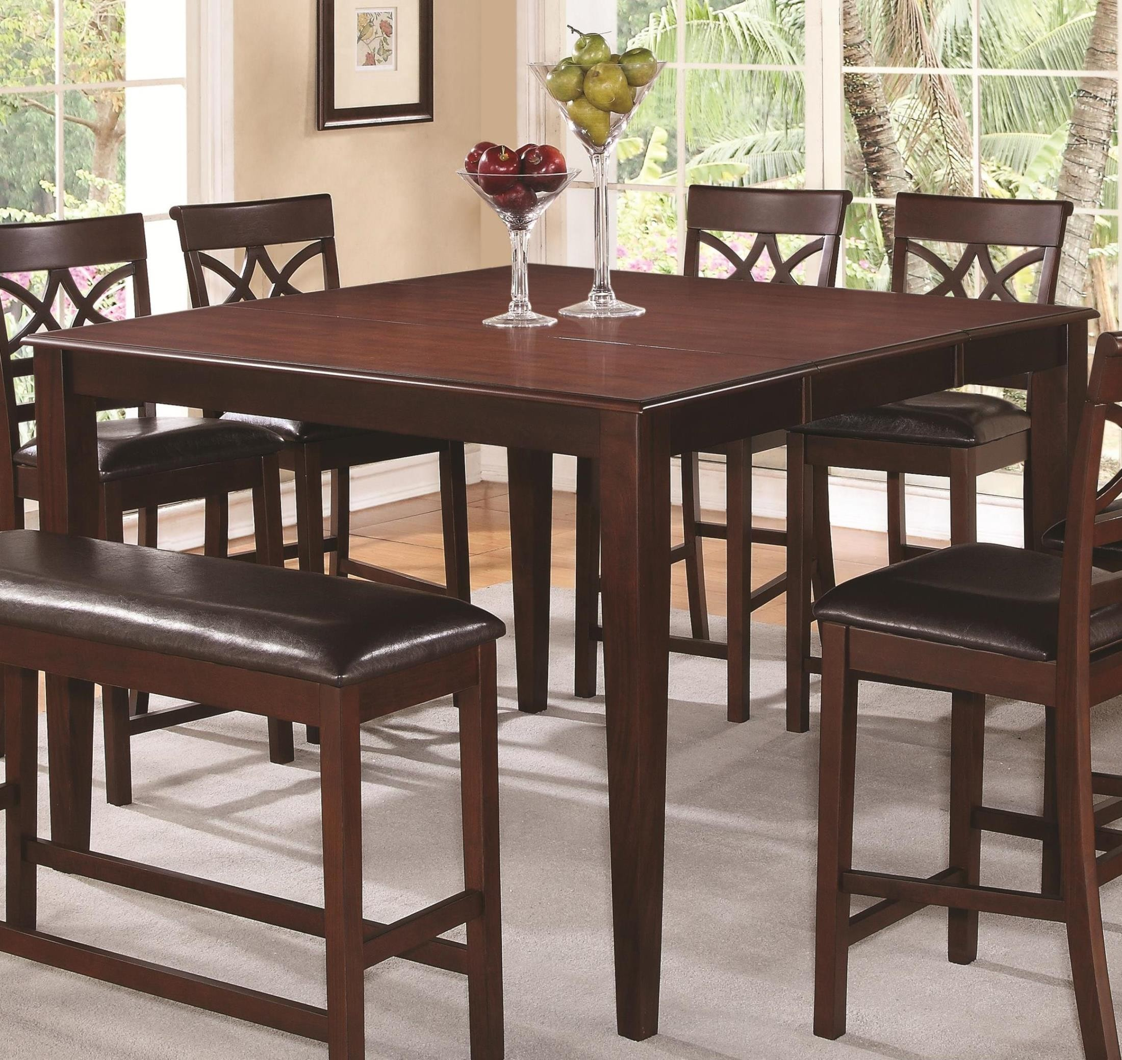 Dunham Square Counter Height Extendable Dining Table From Coaster