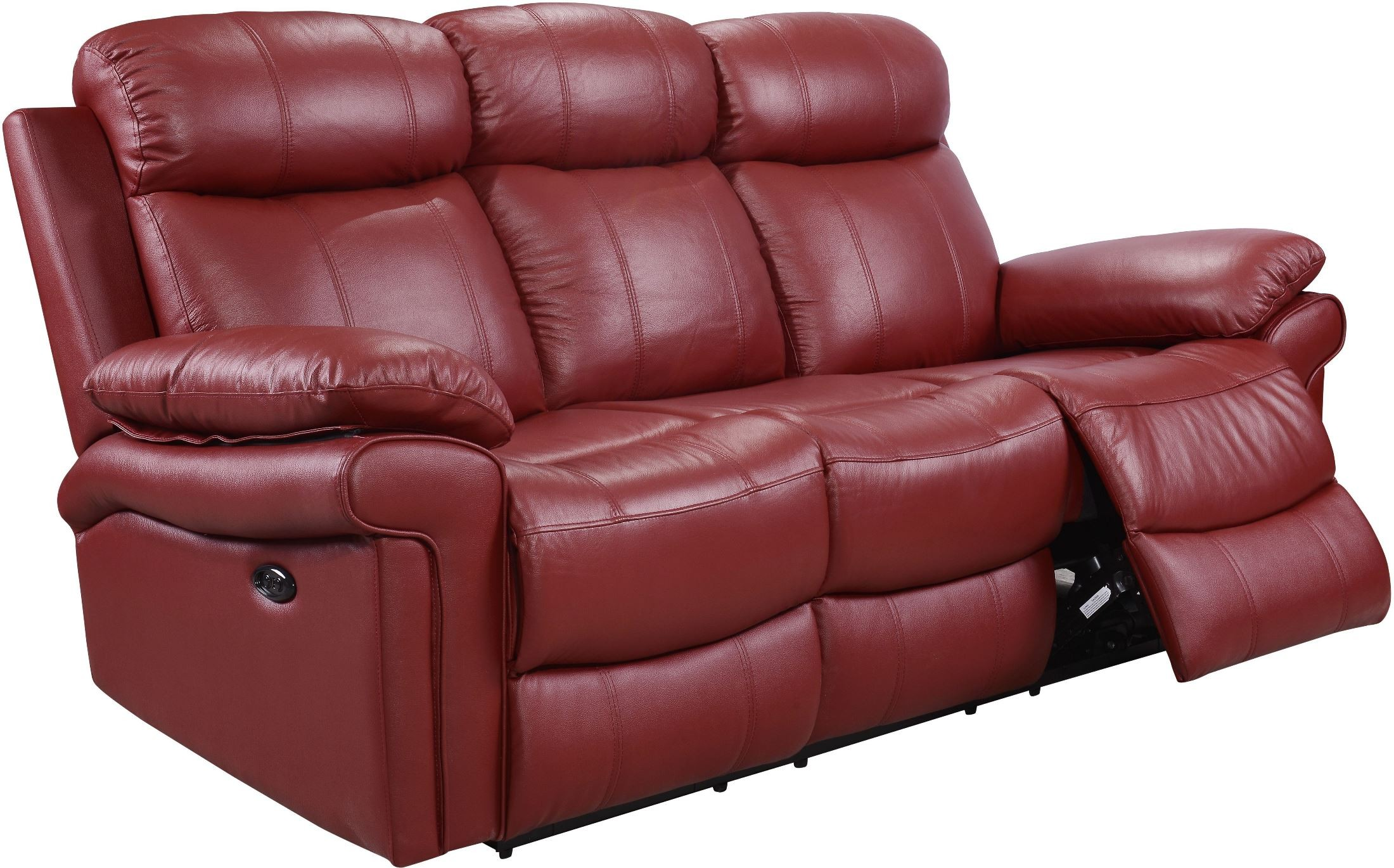 Shae Joplin Red Leather Power Reclining Sofa 1555 E2117 031031lv Leather Italia