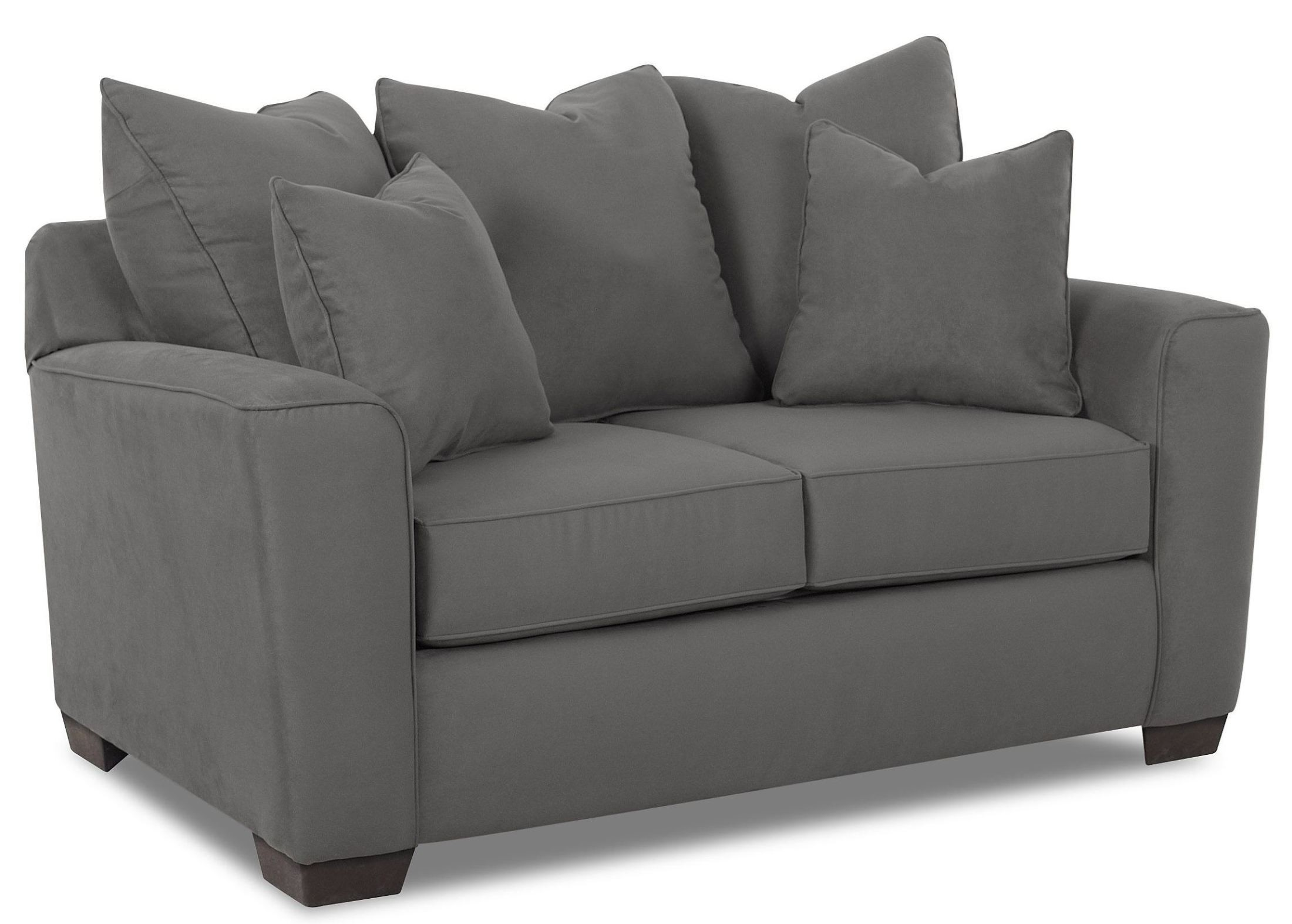 Heather Microsuede Charcoal Loveseat E56044 012013129364 Klaussner