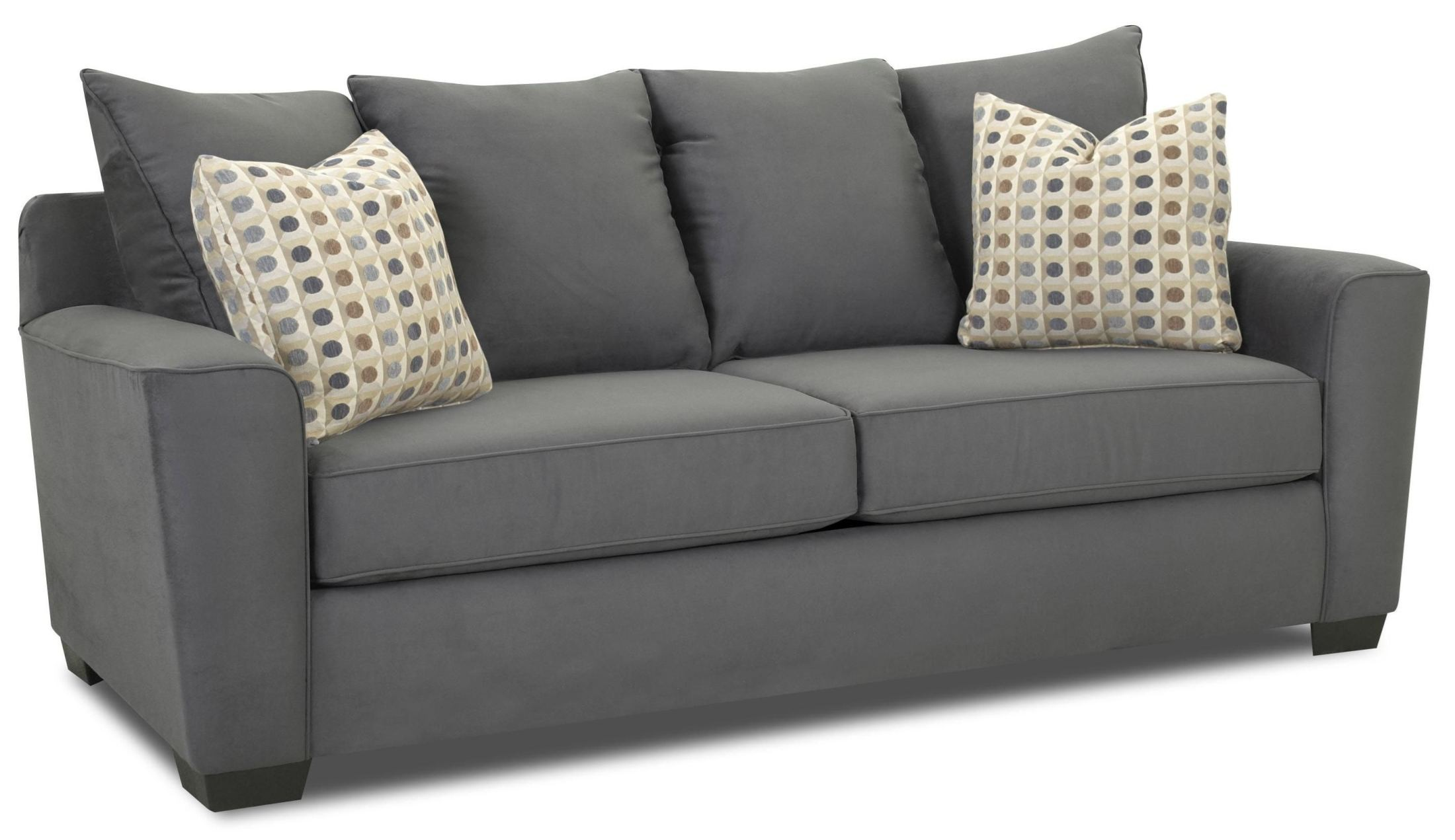 Heather Microsuede Charcoal Sofa E56044 012013129357 Klaussner