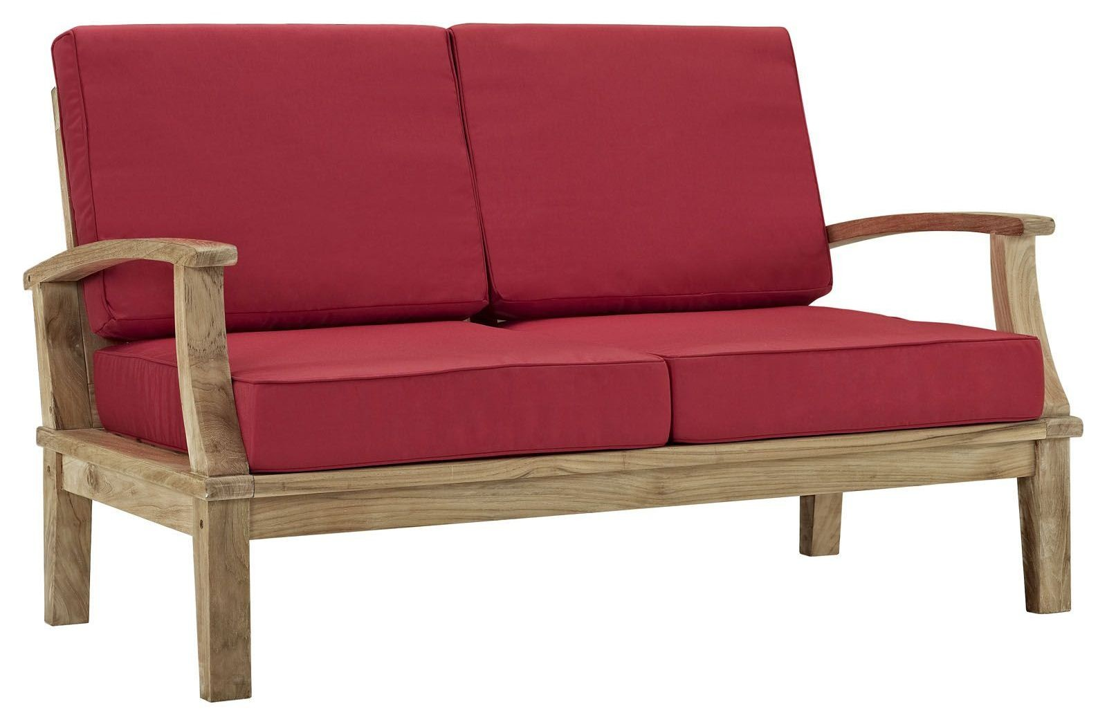 Marina Natural Red Outdoor Patio Teak Loveseat From Renegade Eei 1144 Coleman Furniture