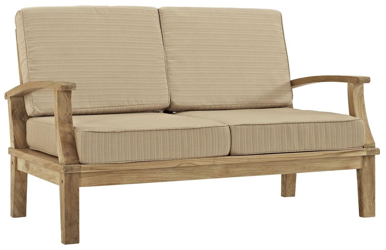 Marina Natural Tan Outdoor Patio Teak Loveseat From Renegade Eei 1144 Coleman Furniture