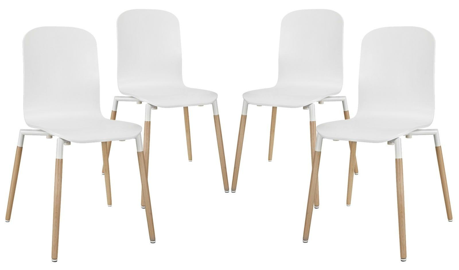 stack white wood dining chairs set of 4 from renegade eei 1373 coleman furniture. Black Bedroom Furniture Sets. Home Design Ideas
