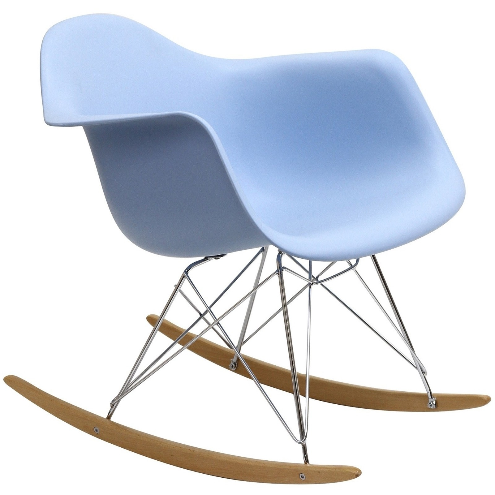 Plastic Molded Rocking Chair In Blue From Renegade Eei 147 Coleman Furniture