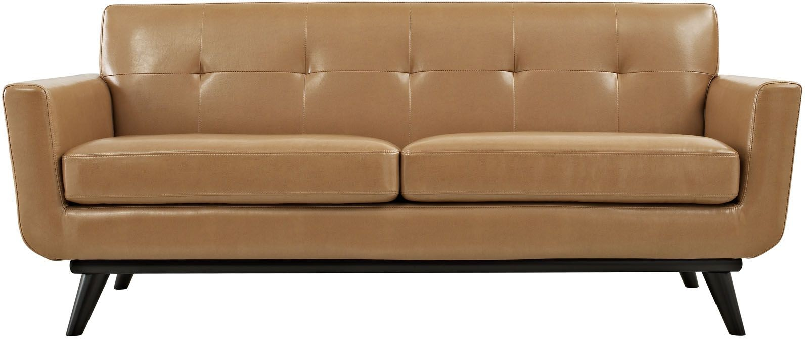 Engage  Piece Leather Living Room Set In Tan