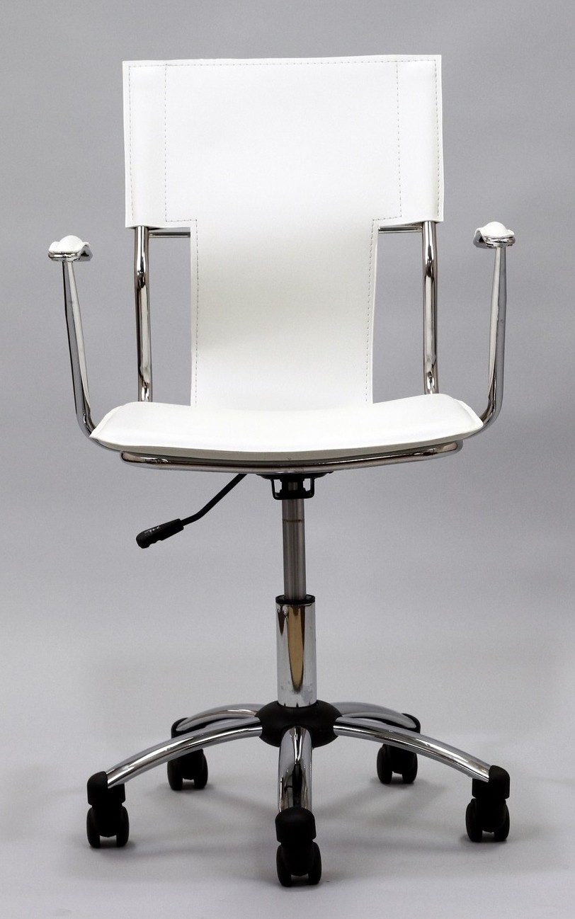 studio office chair in white vinyl from renegade eei 198 coleman