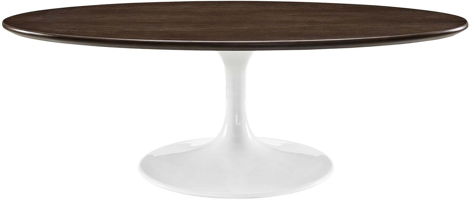 Lippa walnut 48 oval shaped walnut coffee table eei 2020 wal renegade furniture Oval shaped coffee table