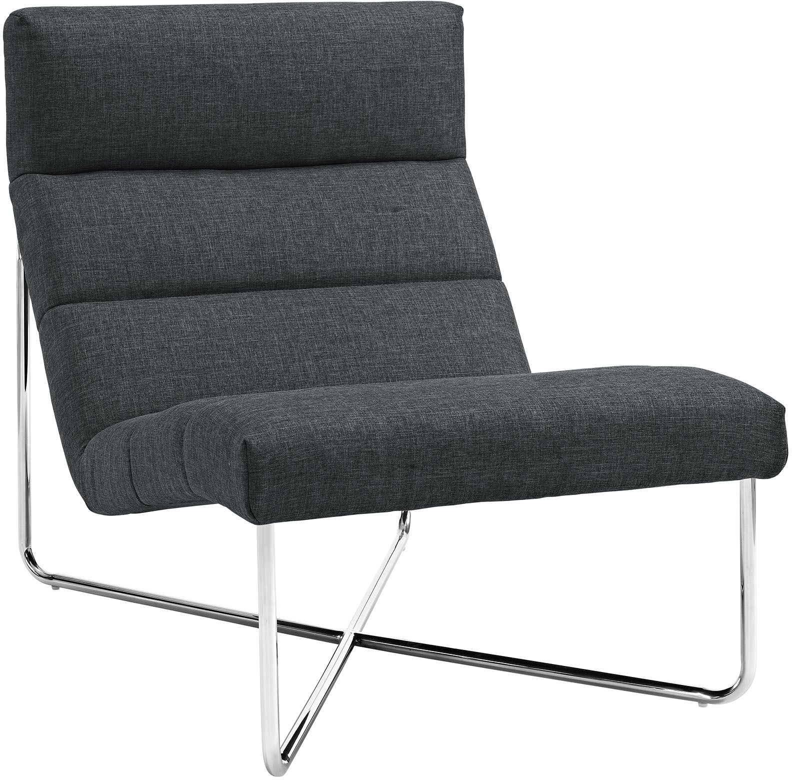 Reach Gray Lounge Chair EEI 2081 GRY Renegade Furniture