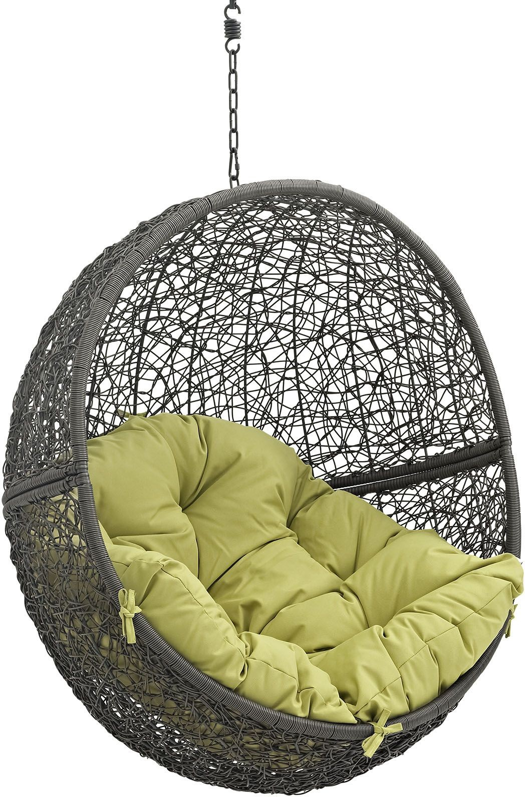 Hide Gray Peridot Outdoor Patio Swing Chair Without Stand, EEI-2654-GRY-PER, Renegade Furniture