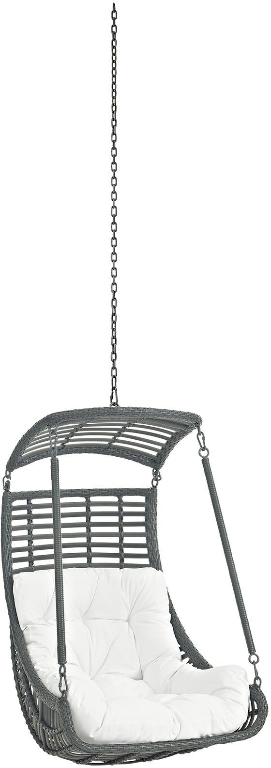 Jungle white outdoor patio swing chair without stand eei for White porch swing with stand