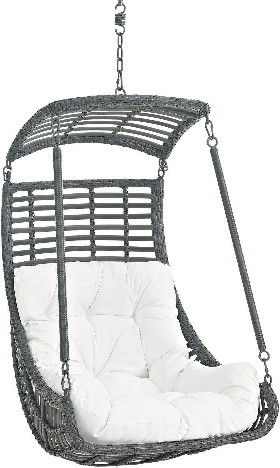 Jungle White Outdoor Patio Swing Chair Without Stand EEI