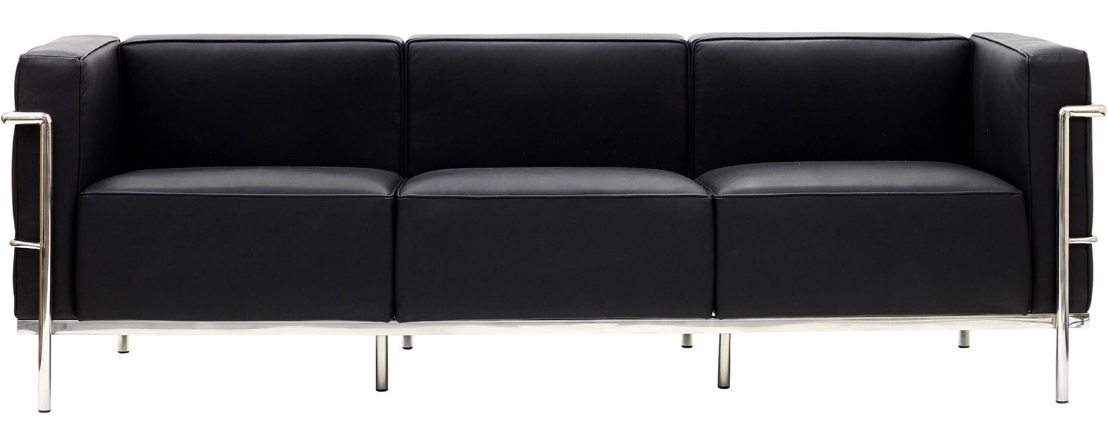le corbusier lc3 sofa in genuine black leather from. Black Bedroom Furniture Sets. Home Design Ideas