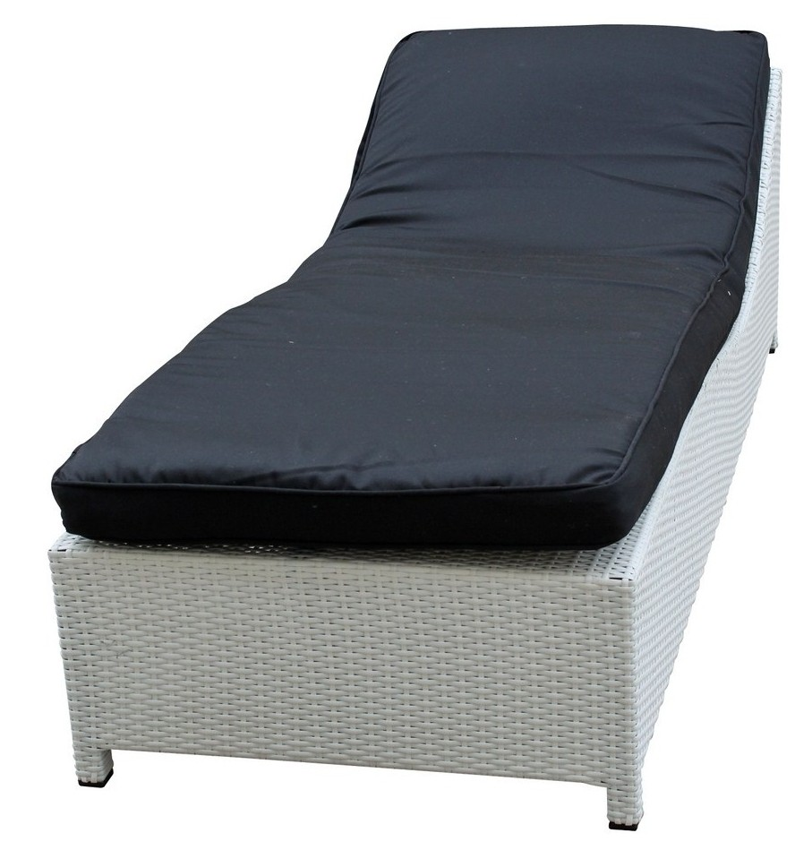 surmount outdoor chaise lounge in white and black cushions
