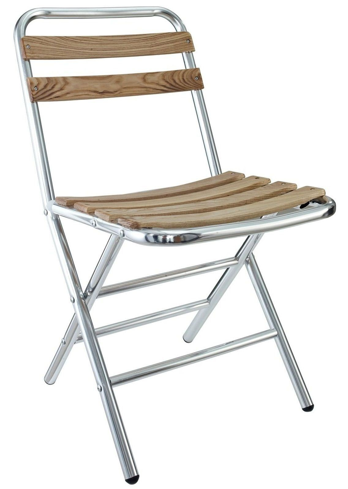 Folderia Wooden Slat Aluminum Folding Chair From Renegade EEI 746 Coleman