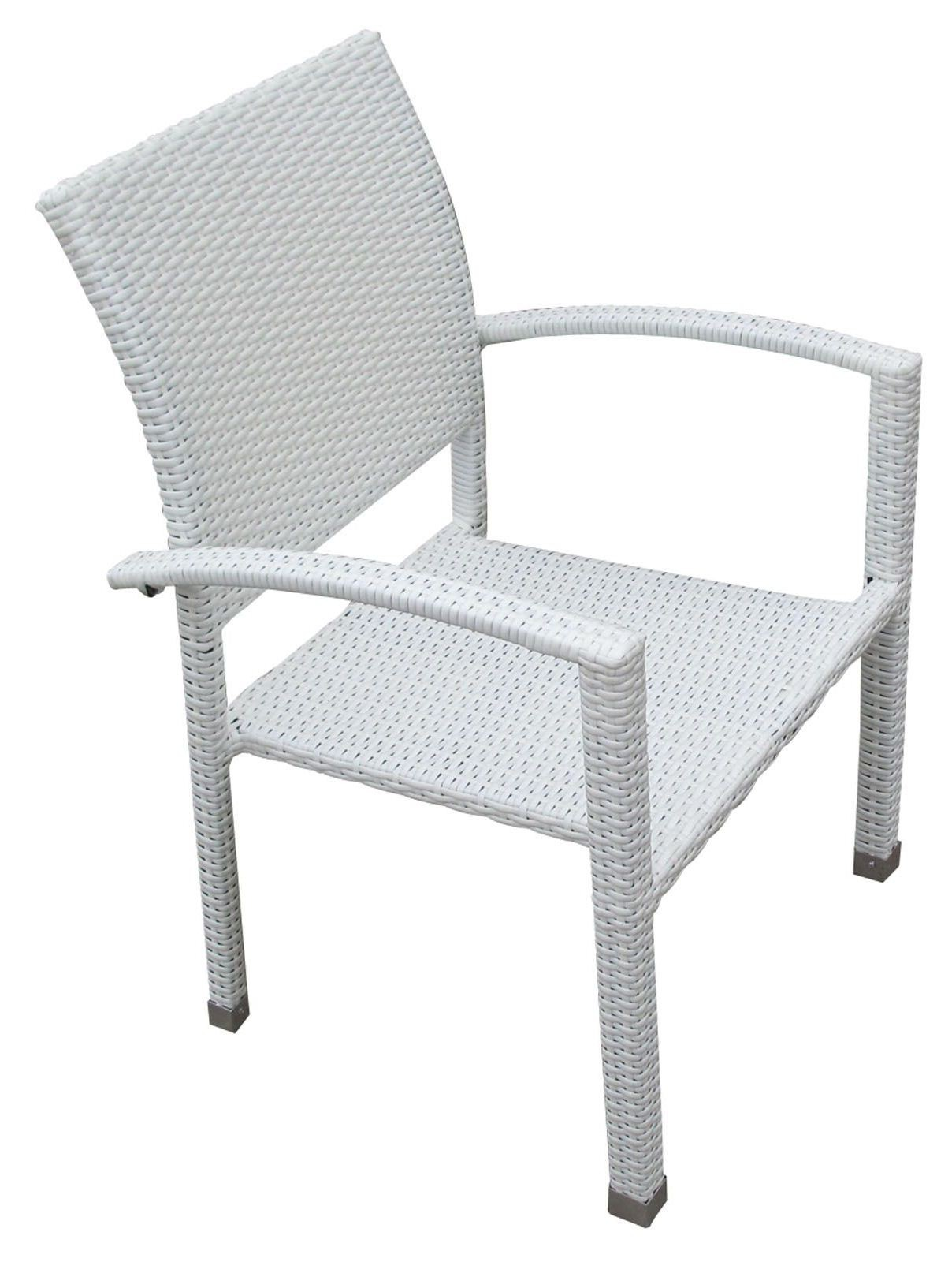Bella White Dining Chair Outdoor Patio Set Of 2 From