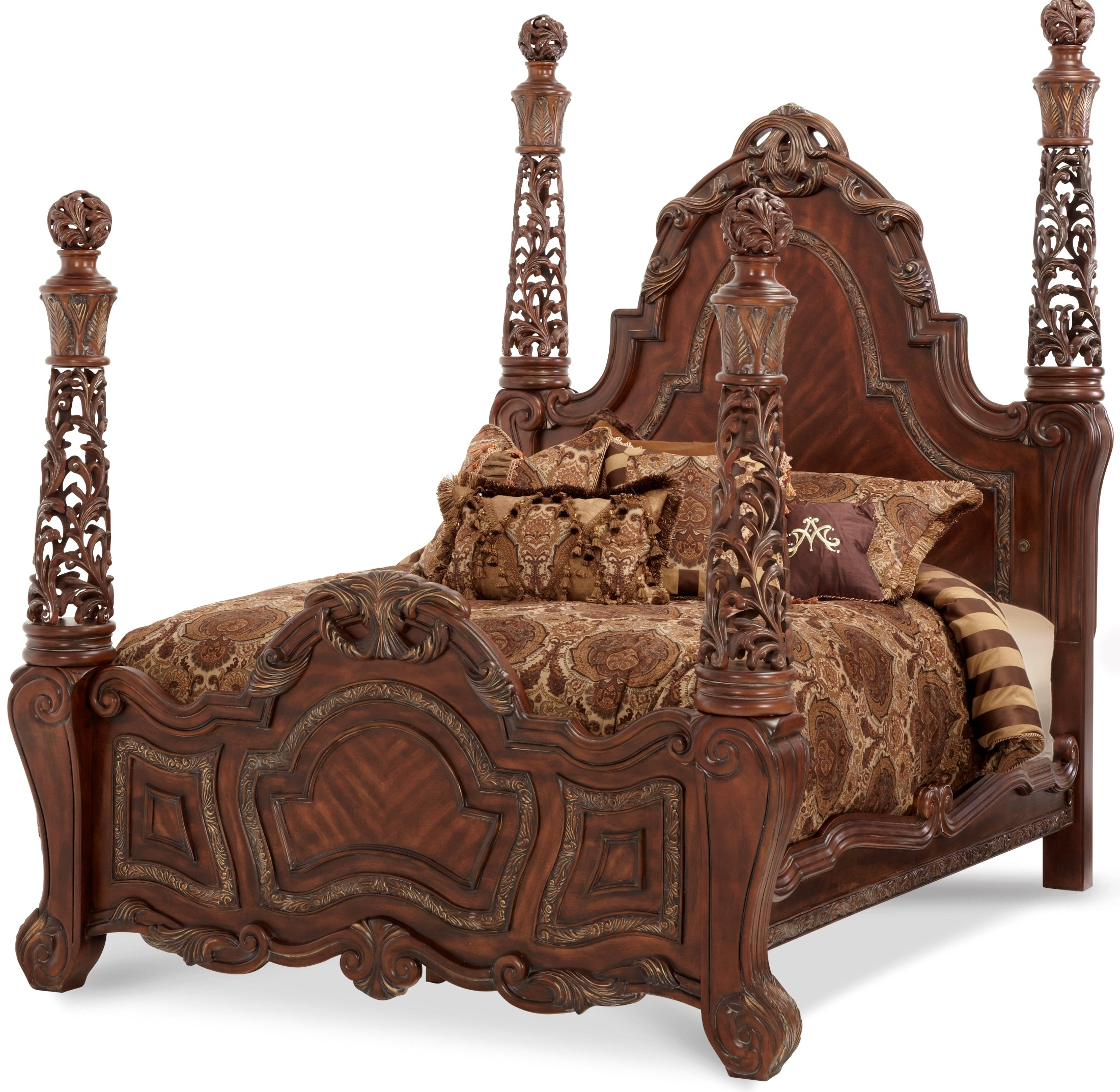 Essex Manor Cal King Poster Bed From Aico N76000ckp 57 Coleman Furniture