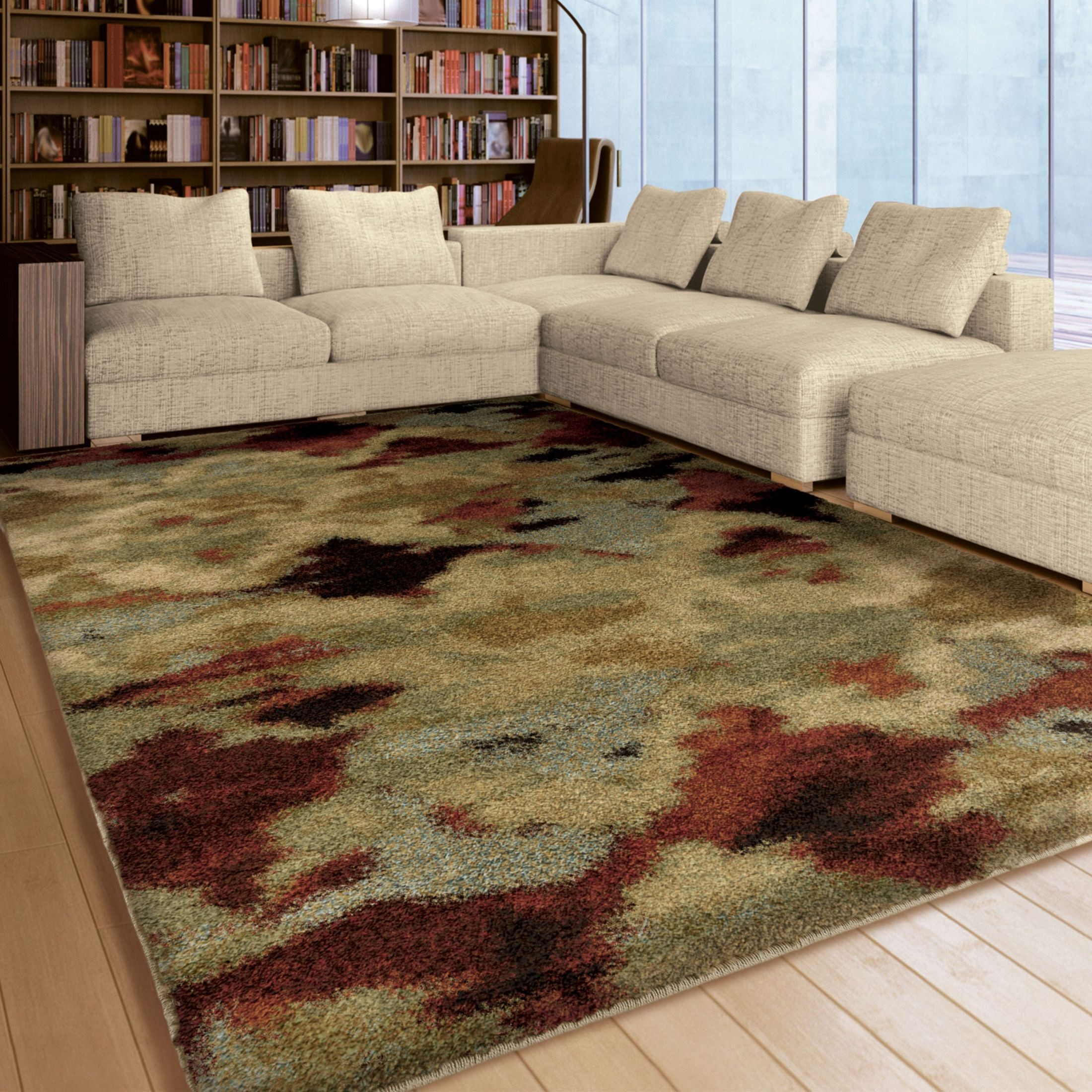 Huge Plush Rug: Orian Rugs Plush Abstract Harlequin Multi Area Large Rug