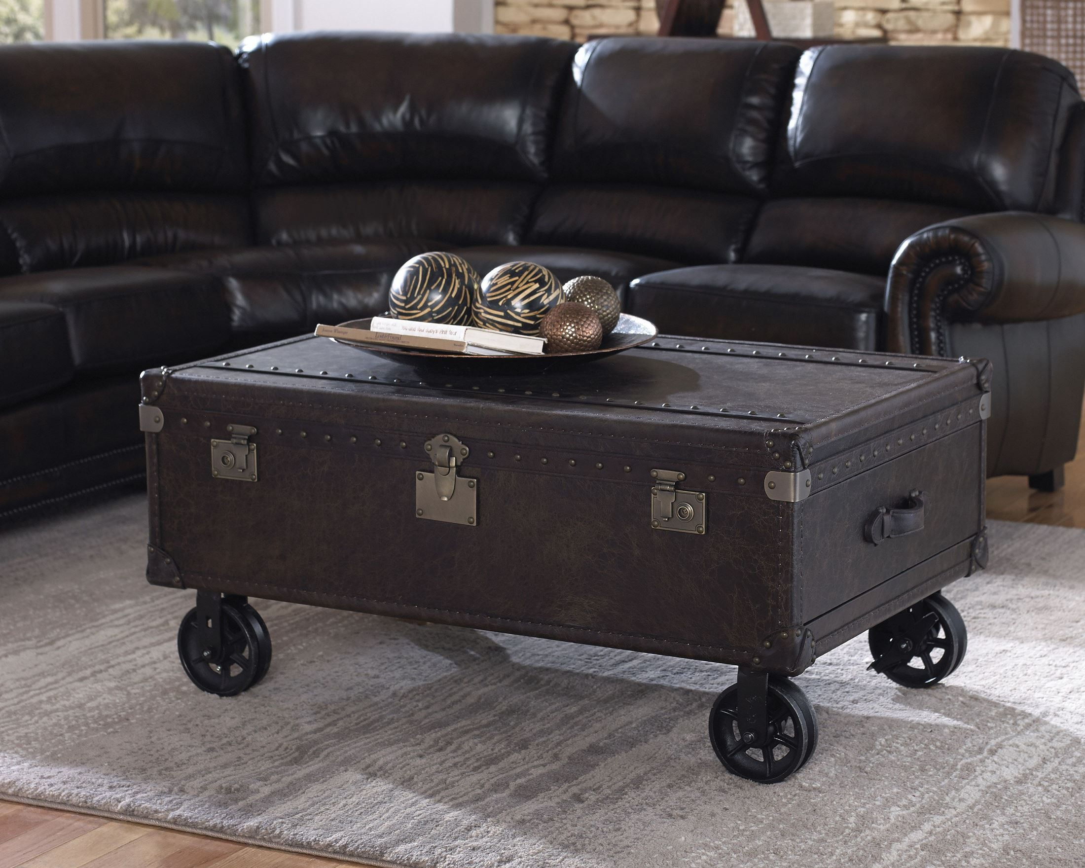 General Brompton Chocolate Leather Steamer Cocktail Table. Small Room Desk Ideas. Desk Lamps Walmart. Bunk Beds With A Desk. Kv Drawer Slides Soft Close. Pantry Drawer System. Cheap Desk Organizers. Desk Lamp With Outlet In Base. 8 Drawer Coffee Table
