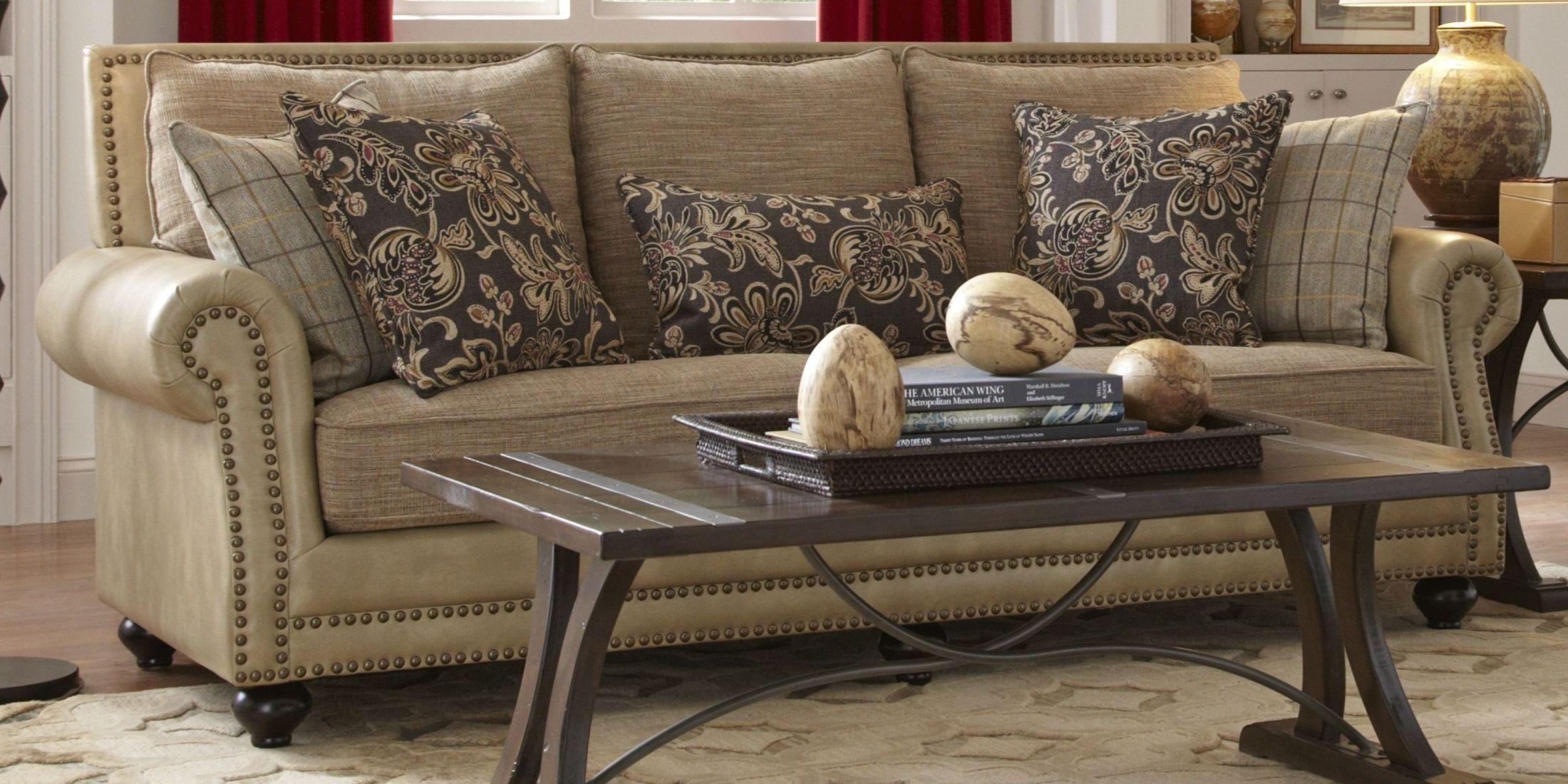 Kingsport Camel And Twilight Sofa F1452 401 Largo Furniture