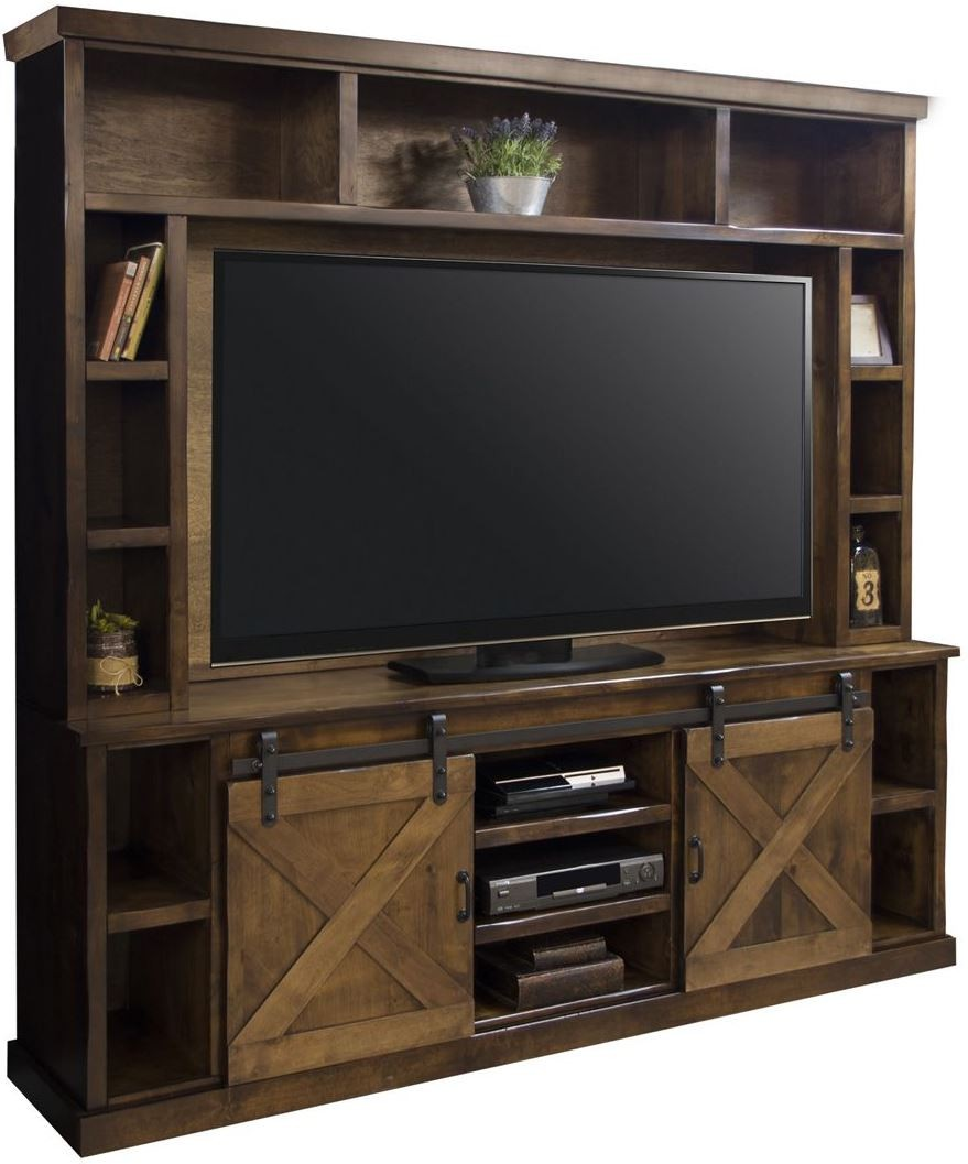 farmhouse brown entertainment center fh1415 fh1915 awy