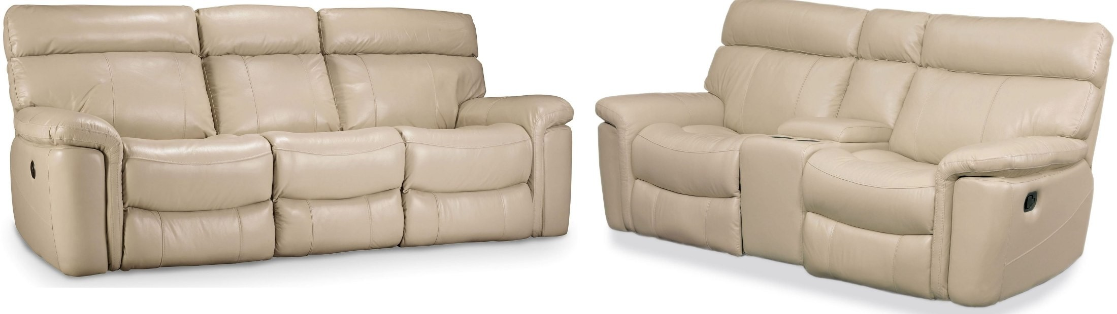 Melanie Beige Leather Reclining Living Room Set Ss620 03