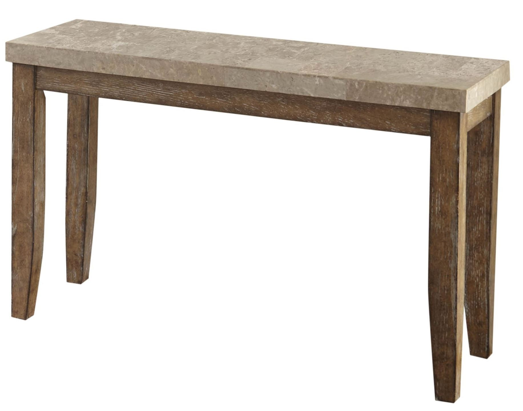 Franco Distressed Driftwood Marble Top Sofa Table FR700S