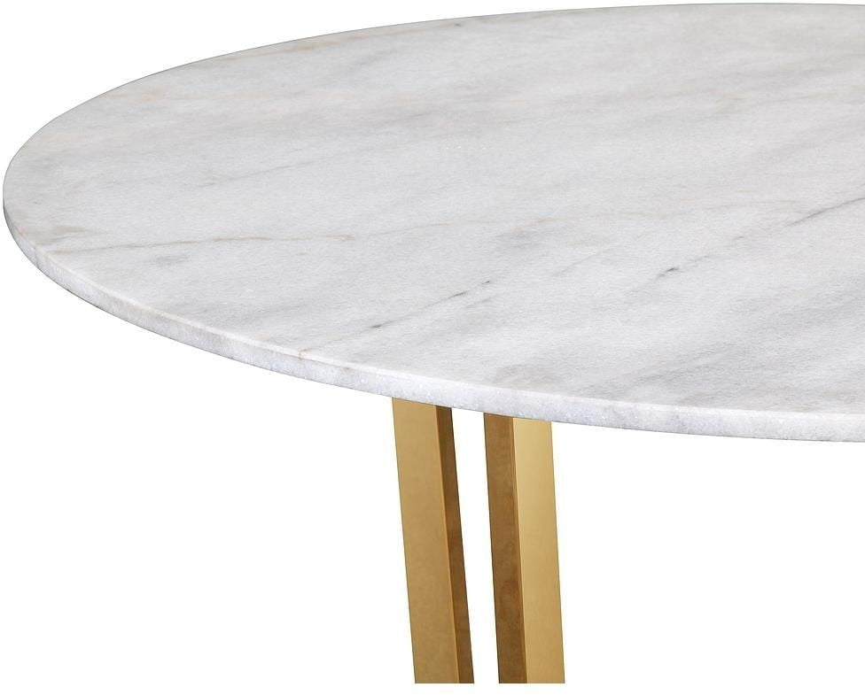 Maxim white marble dining table g5463 tov furniture - White marble dining tables ...
