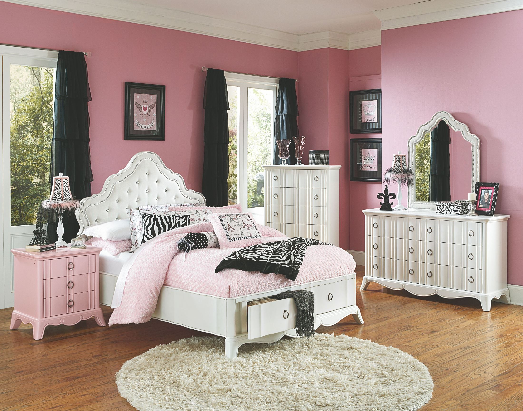 gabrielle youth island storage bedroom set from magnussen