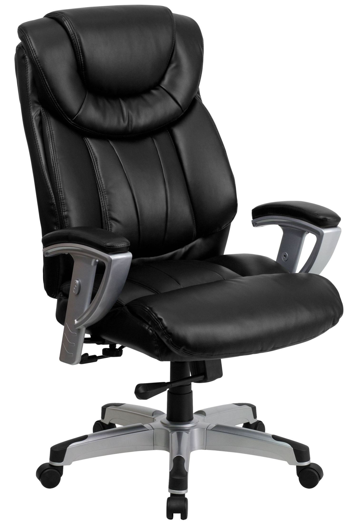 1534 hercules series big tall black leather arm office chair from renegade go 1534 bk lea gg. Black Bedroom Furniture Sets. Home Design Ideas